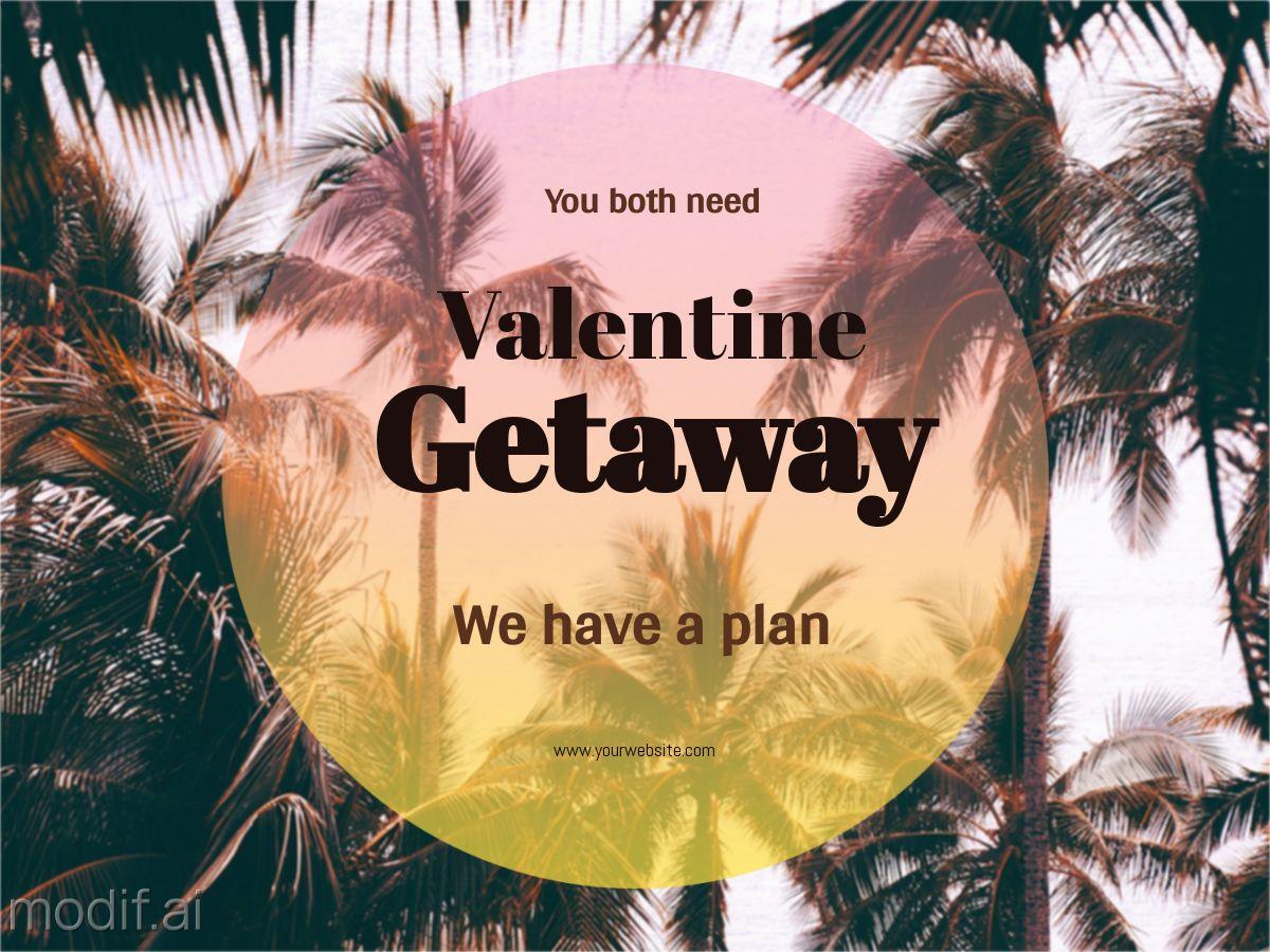 Valentine Getaway Promo Facebook Post Template