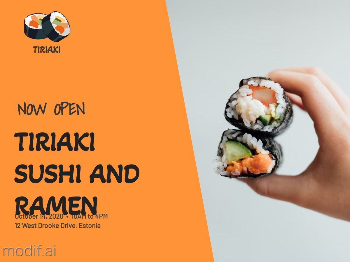 Sushi Bar Promo Facebook Post Template