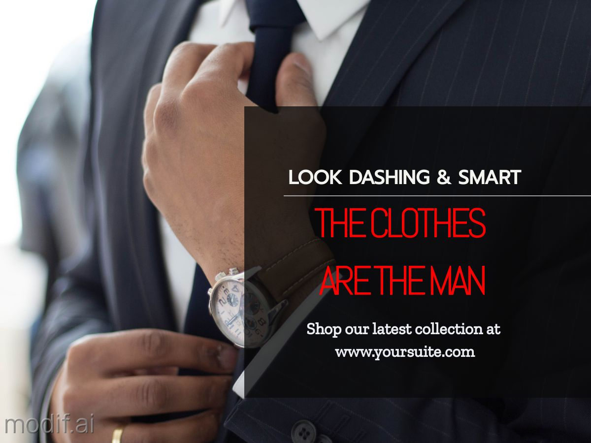 Mens Fashion and Suits Facebook Post Template