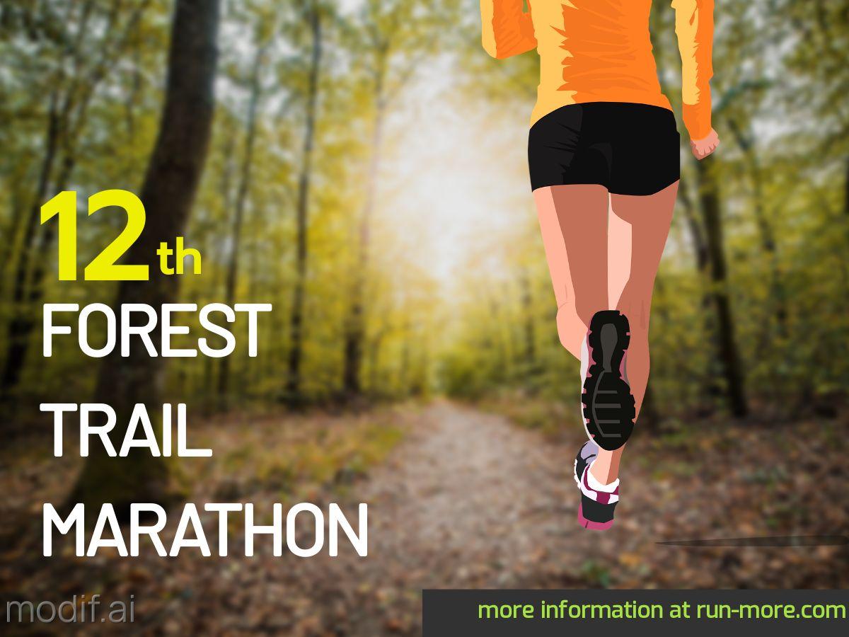 Forest Marathon Facebook Post Template
