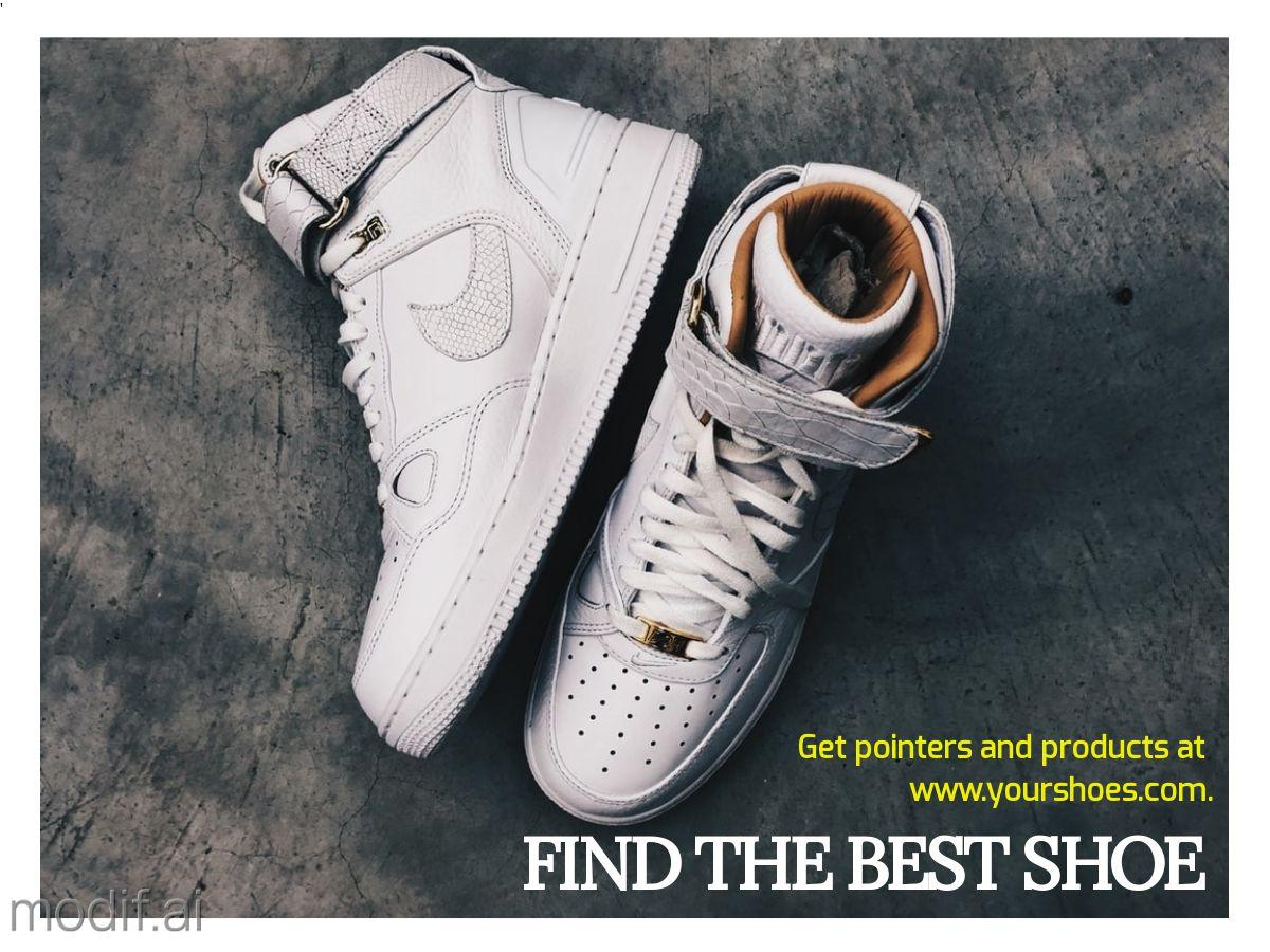 Sneaker Advertisement Facebook Post Template