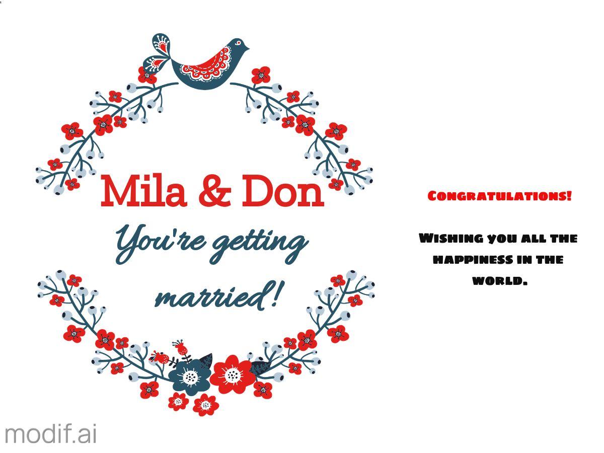 Marriage Congratulation Facebook Post Template
