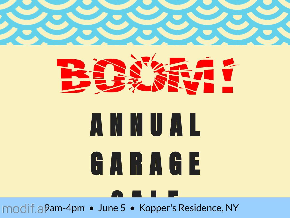Annual Garage Sale Facebook Post Template