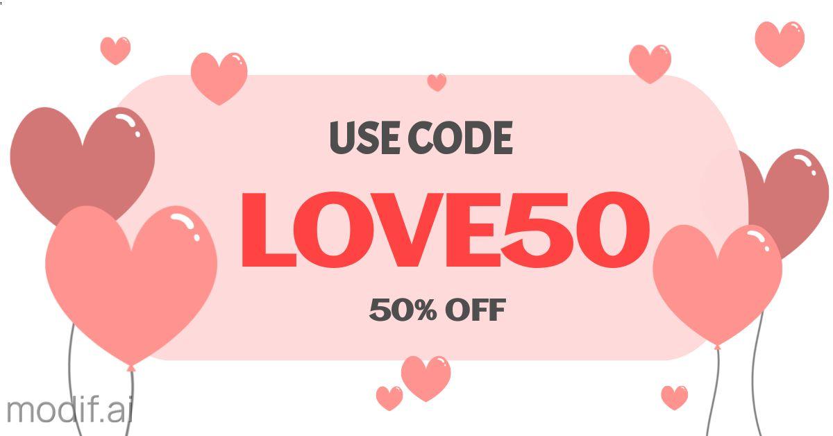 Valentines Discount Facebook Banner Template