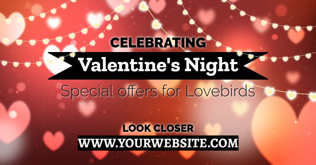 Valentine Special Offers Facebook Banner Template