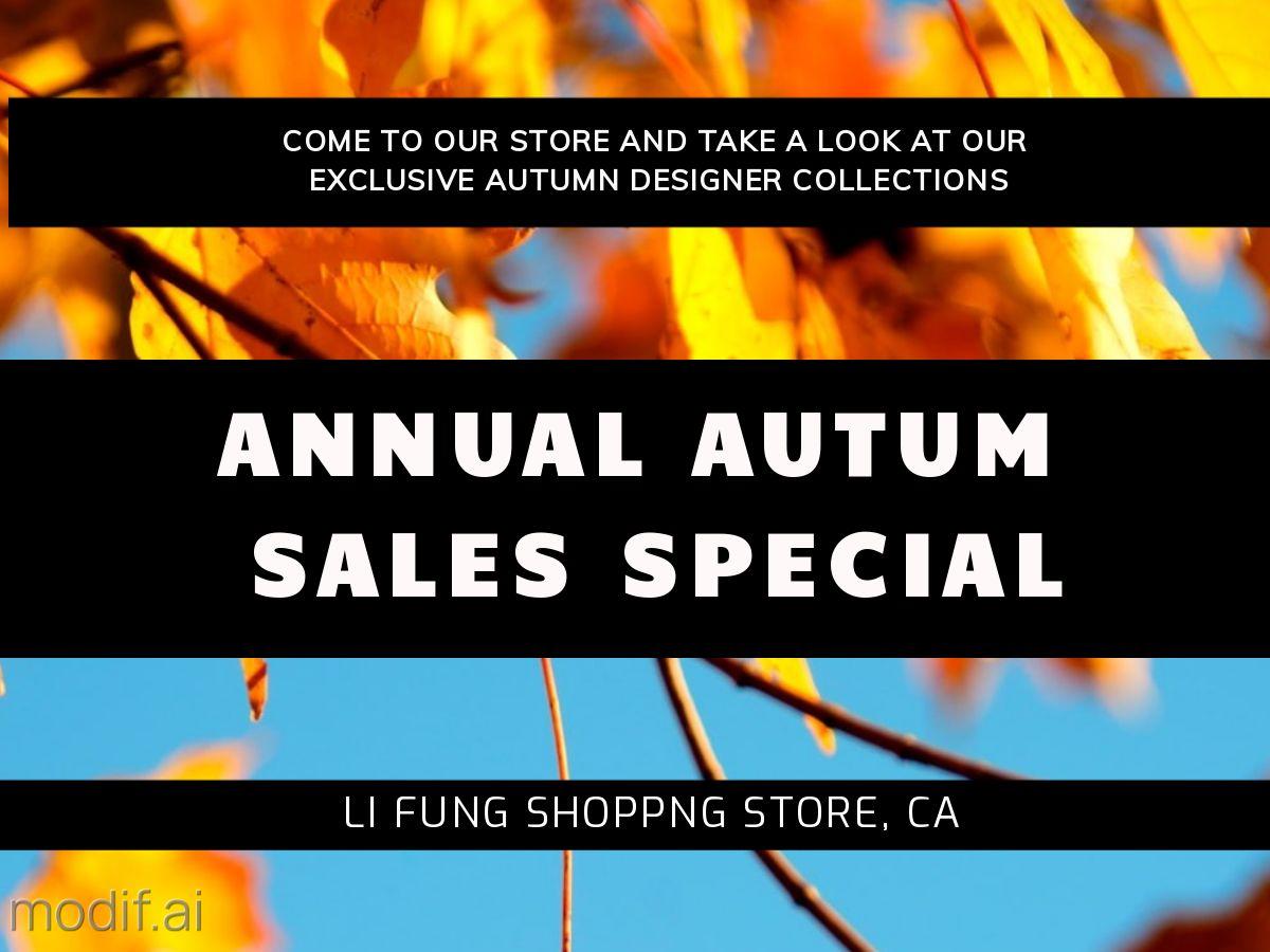 Autumn Sale Special Facebook Post Template