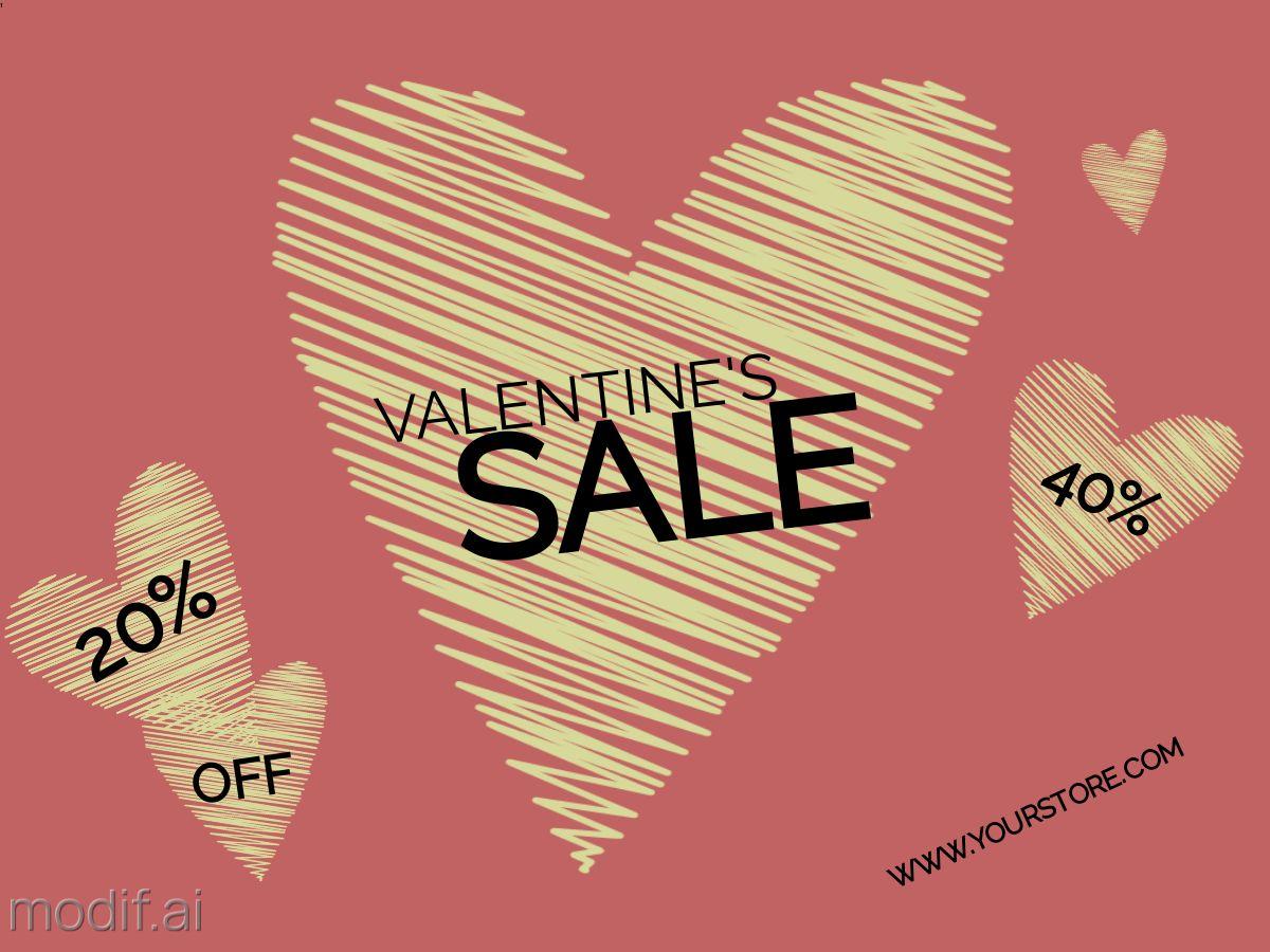 Valentine Sale Facebook Post Template