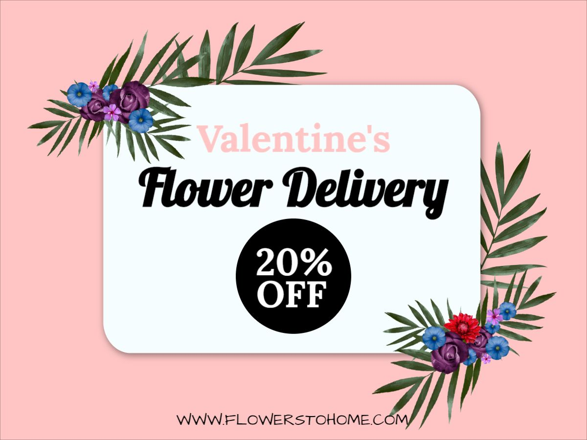 Valentines Day Flower Delivery Facebook Post Template