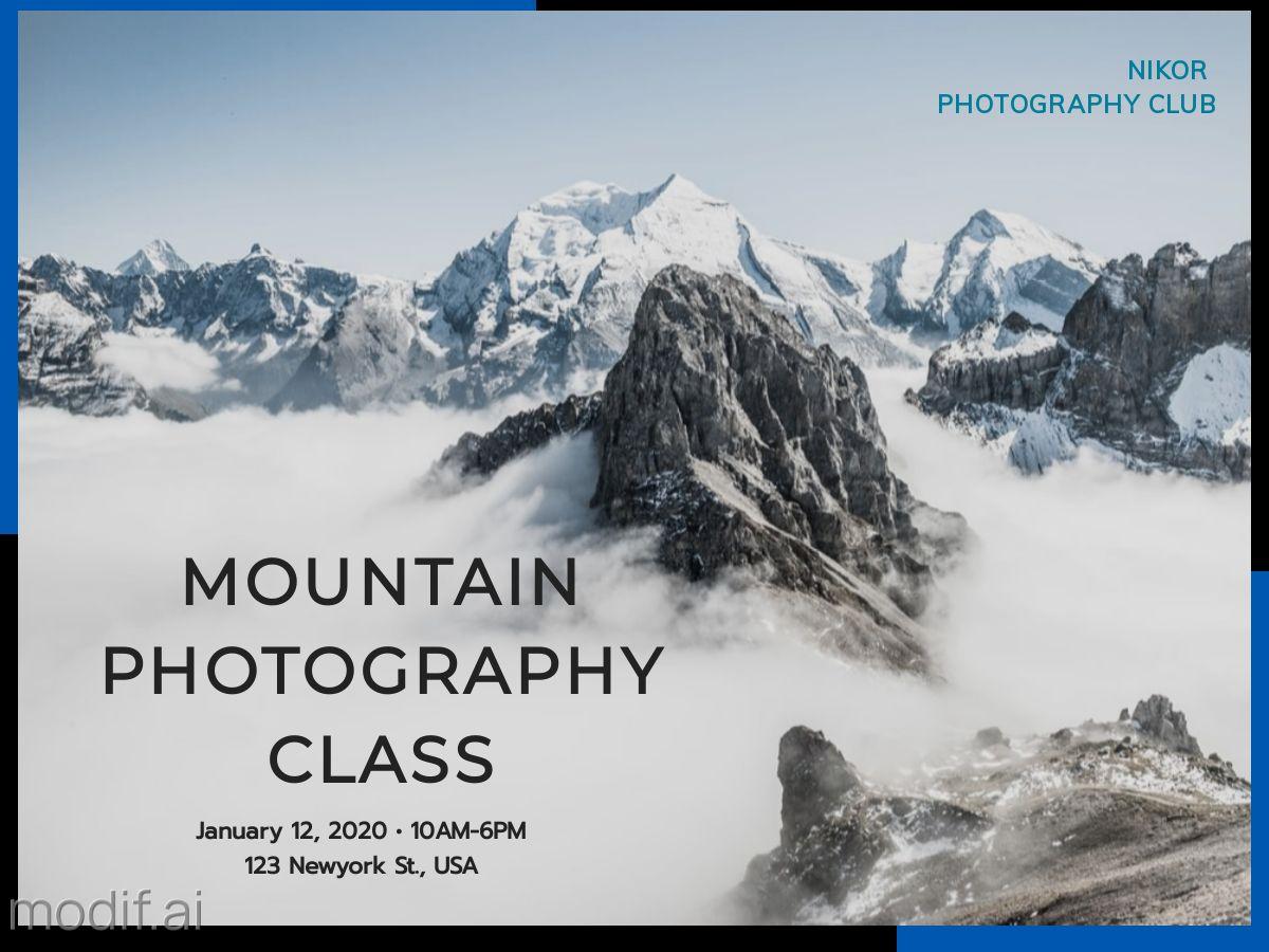 Photography Class Facebook Post Template