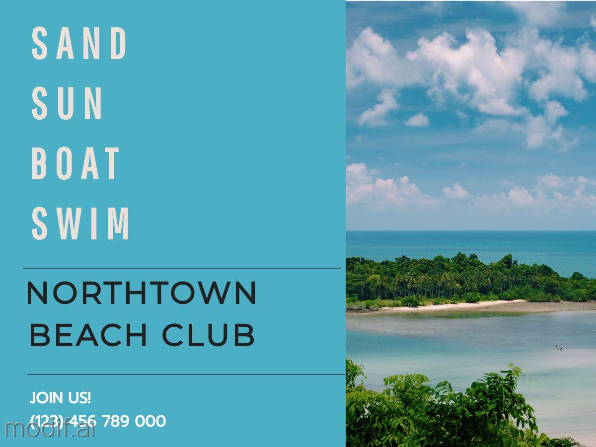 Beach Club Facebook Post Template