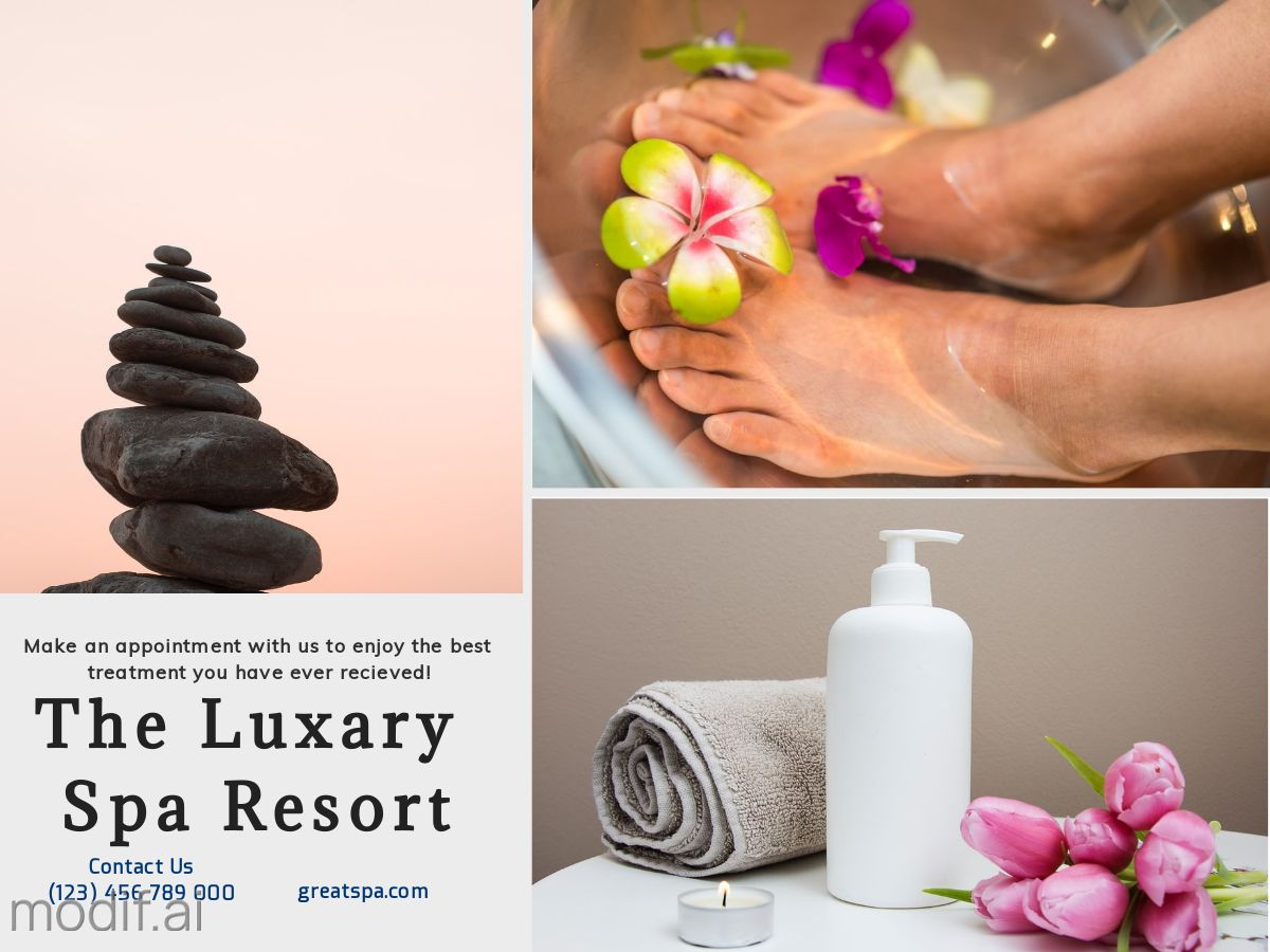 Spa Ad Facebook Post Template