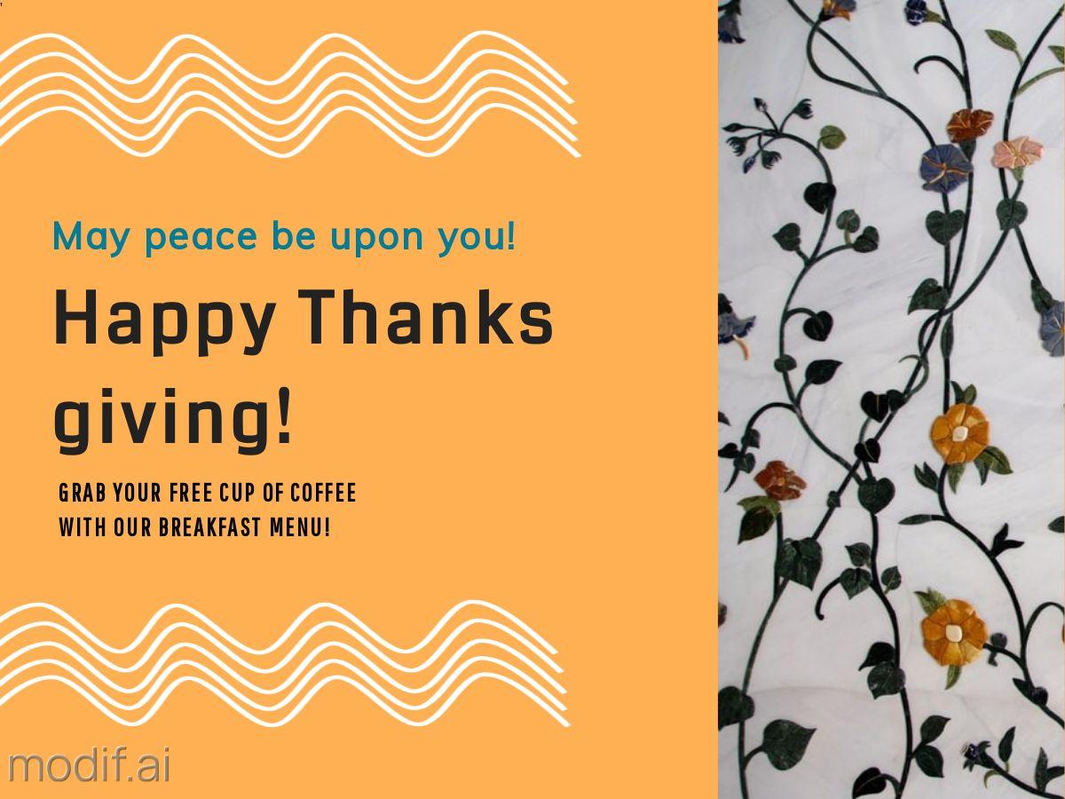 Thanksgiving Facebook Post Template