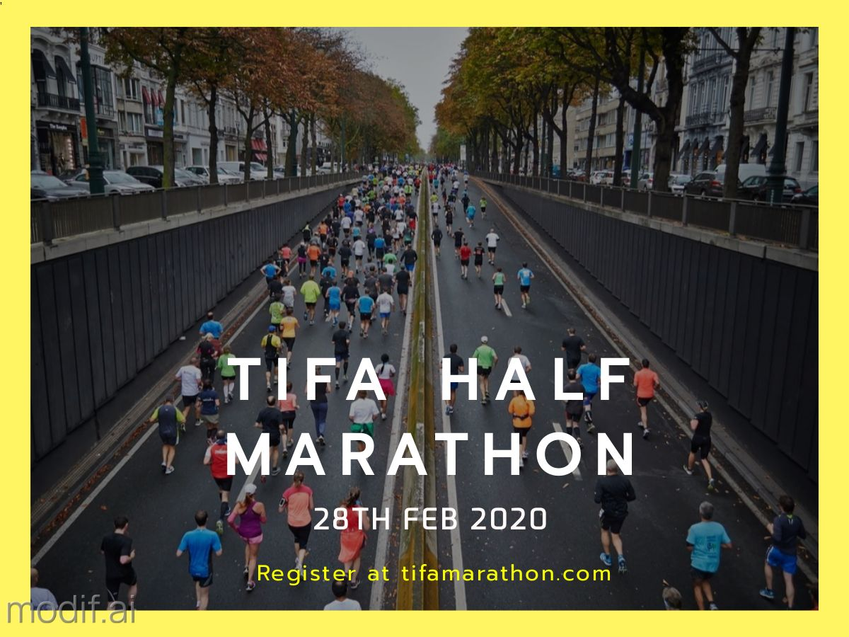 Half Marathon Facebook Post Template