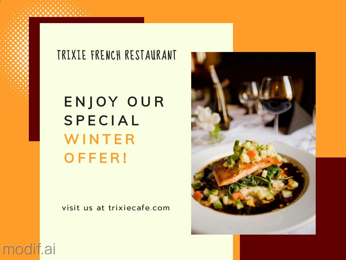 Restaurant Offer Facebook Post Template