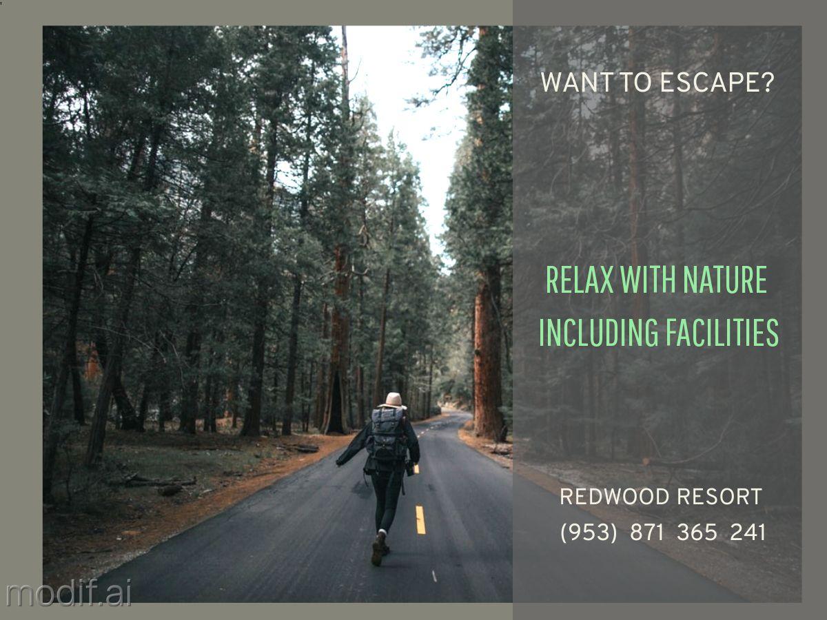 Resort Advertisement Facebook Post Template
