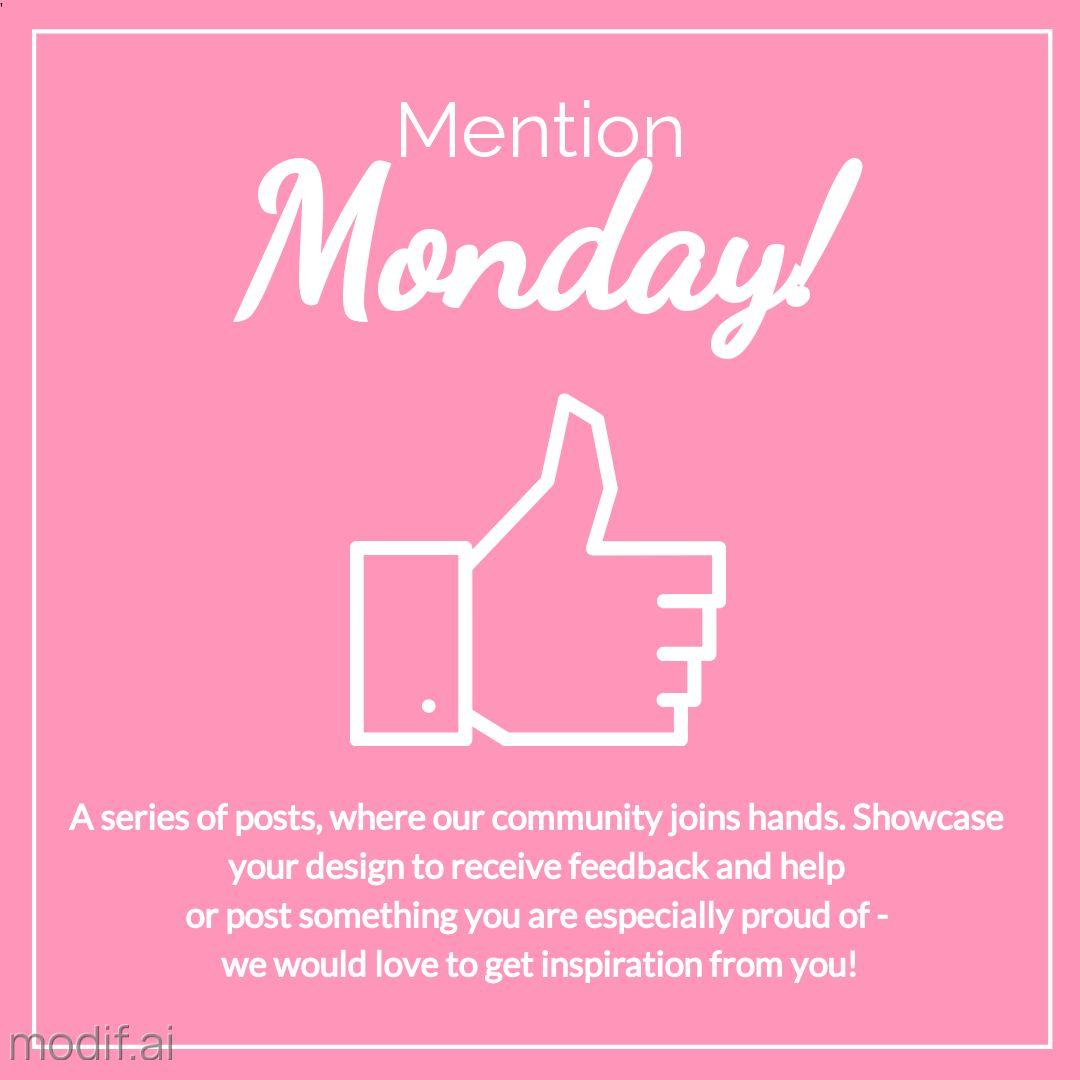 Mention Monday Social Media Post Maker