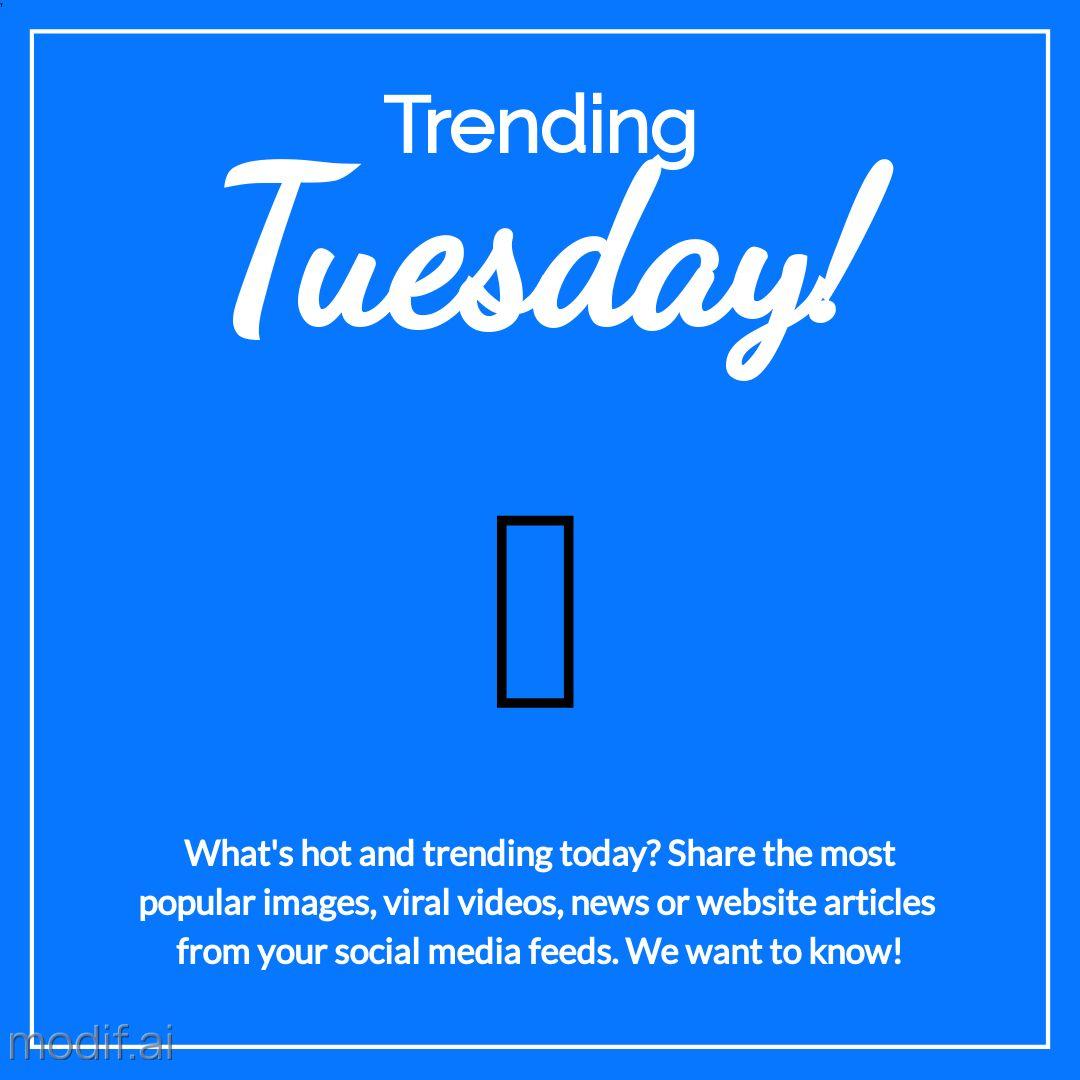 Trending Tuesday Social Media Post Maker