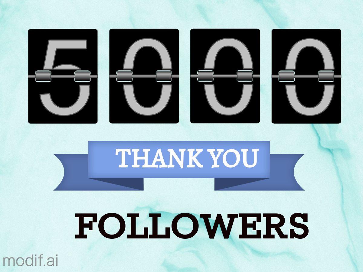 5k Follower Thank You Facebook Post Template