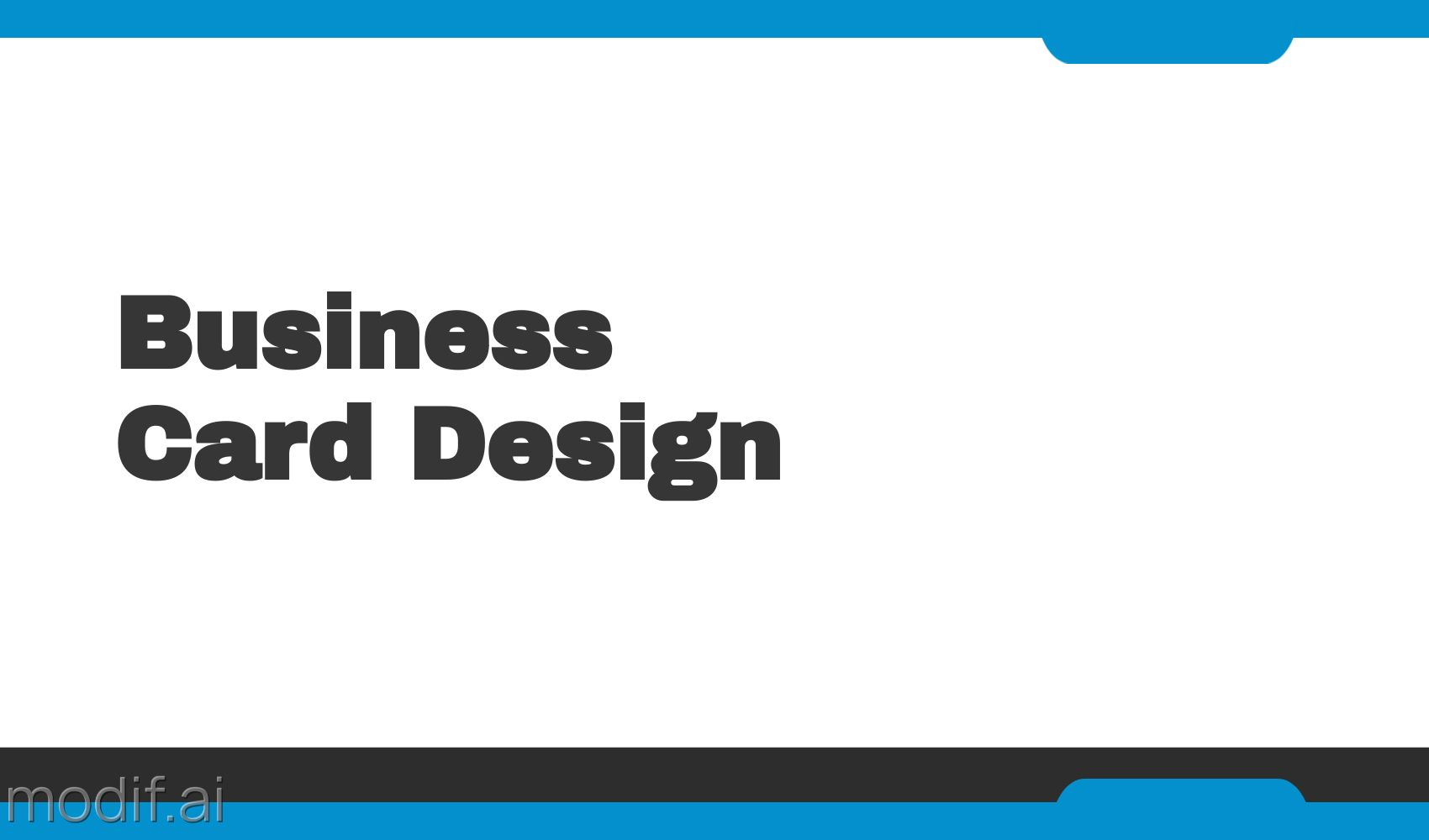 Blue Business Card Front Design Template