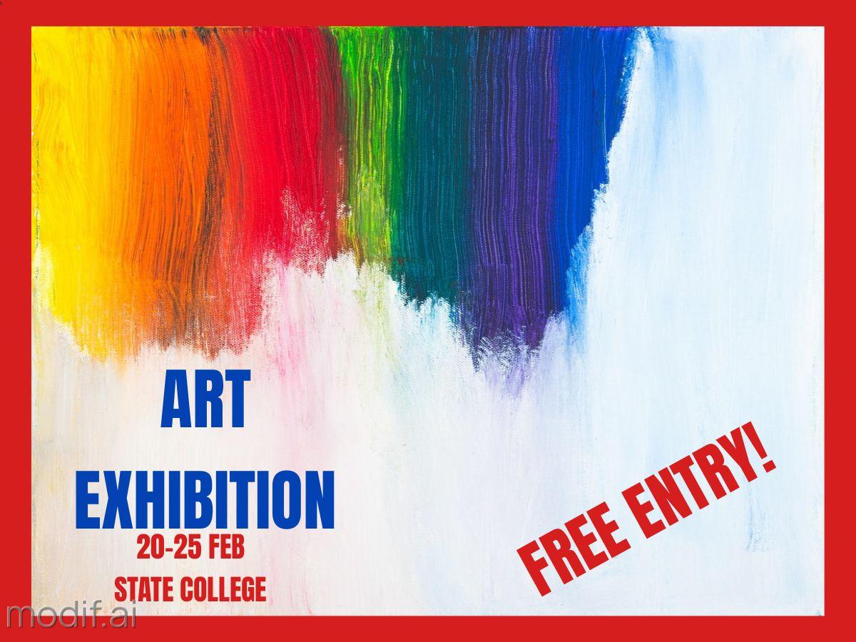 Art Exhibition Entry Facebook Post Template