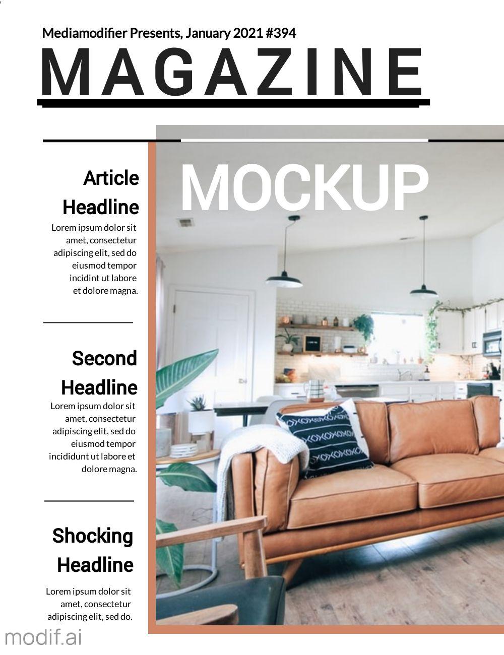 Free Magazine Cover Design Template