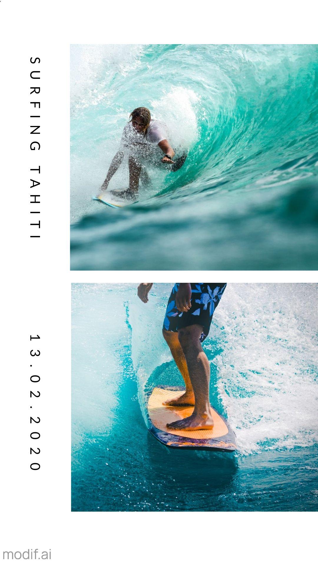 Surfing Tahiti Instagram Story Maker