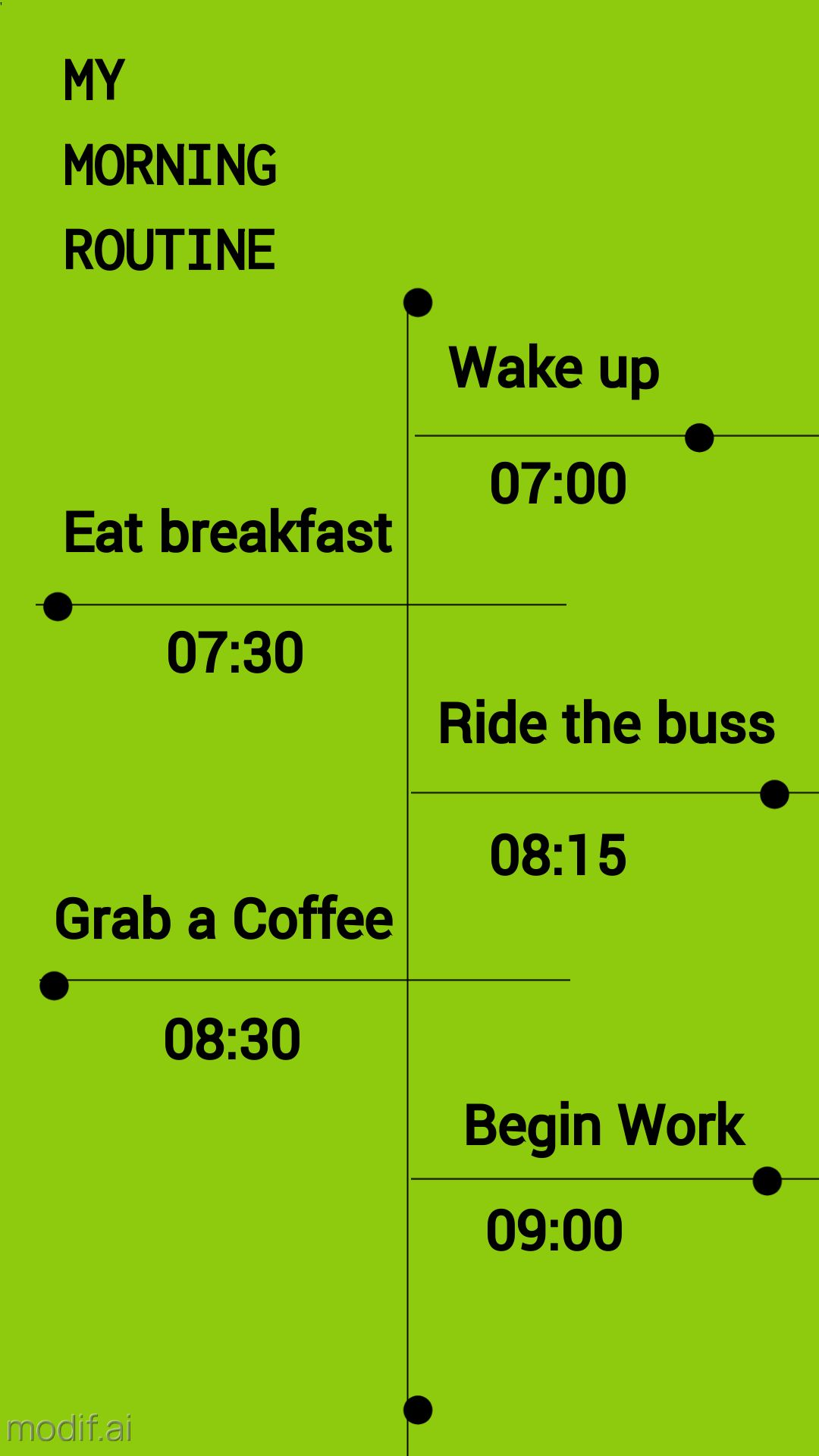 Instagram Story Morning Routine