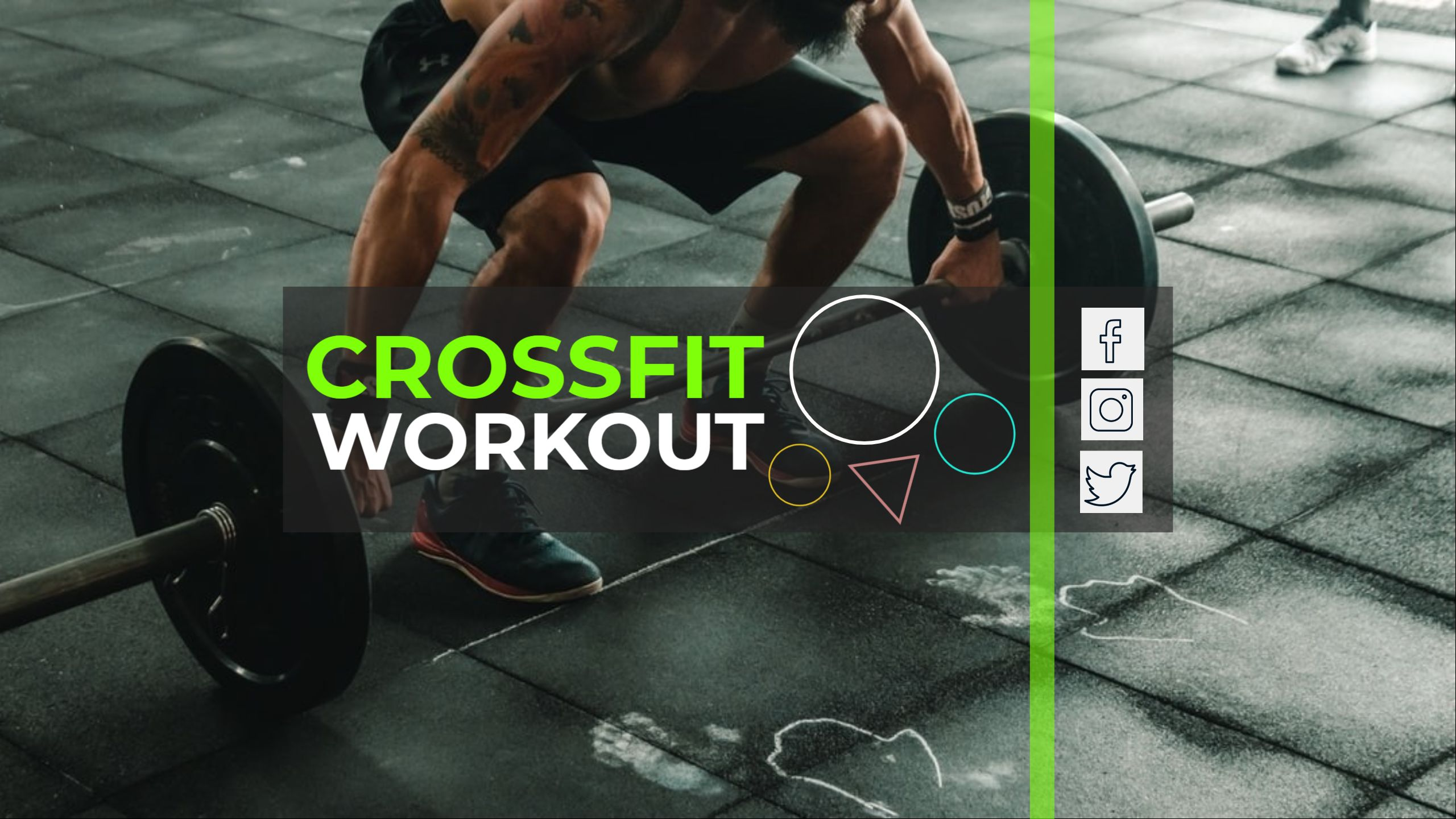 Fitness and Workout YouTube Channel Art