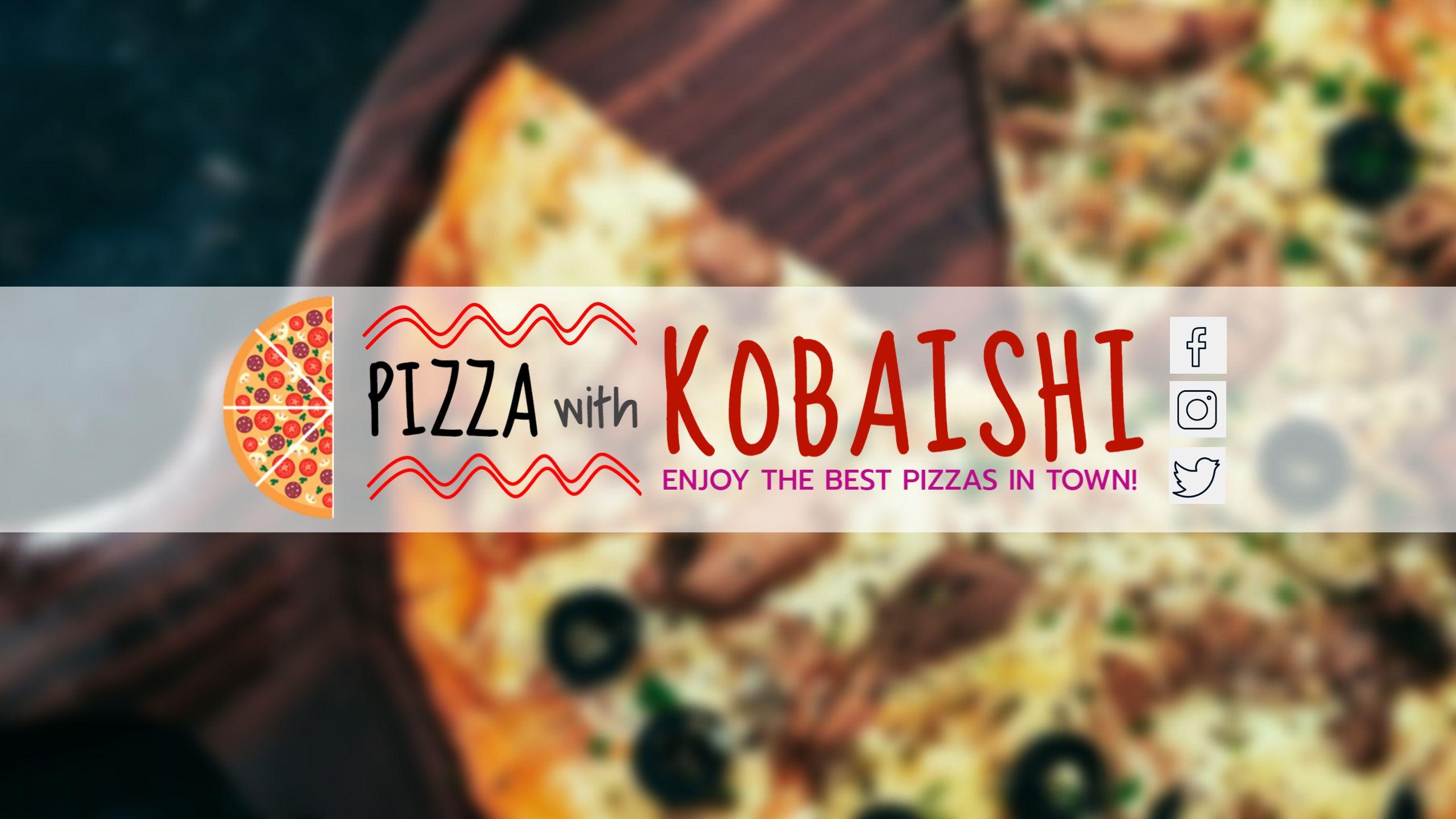 Pizza Restaurant Youtube Banner Template