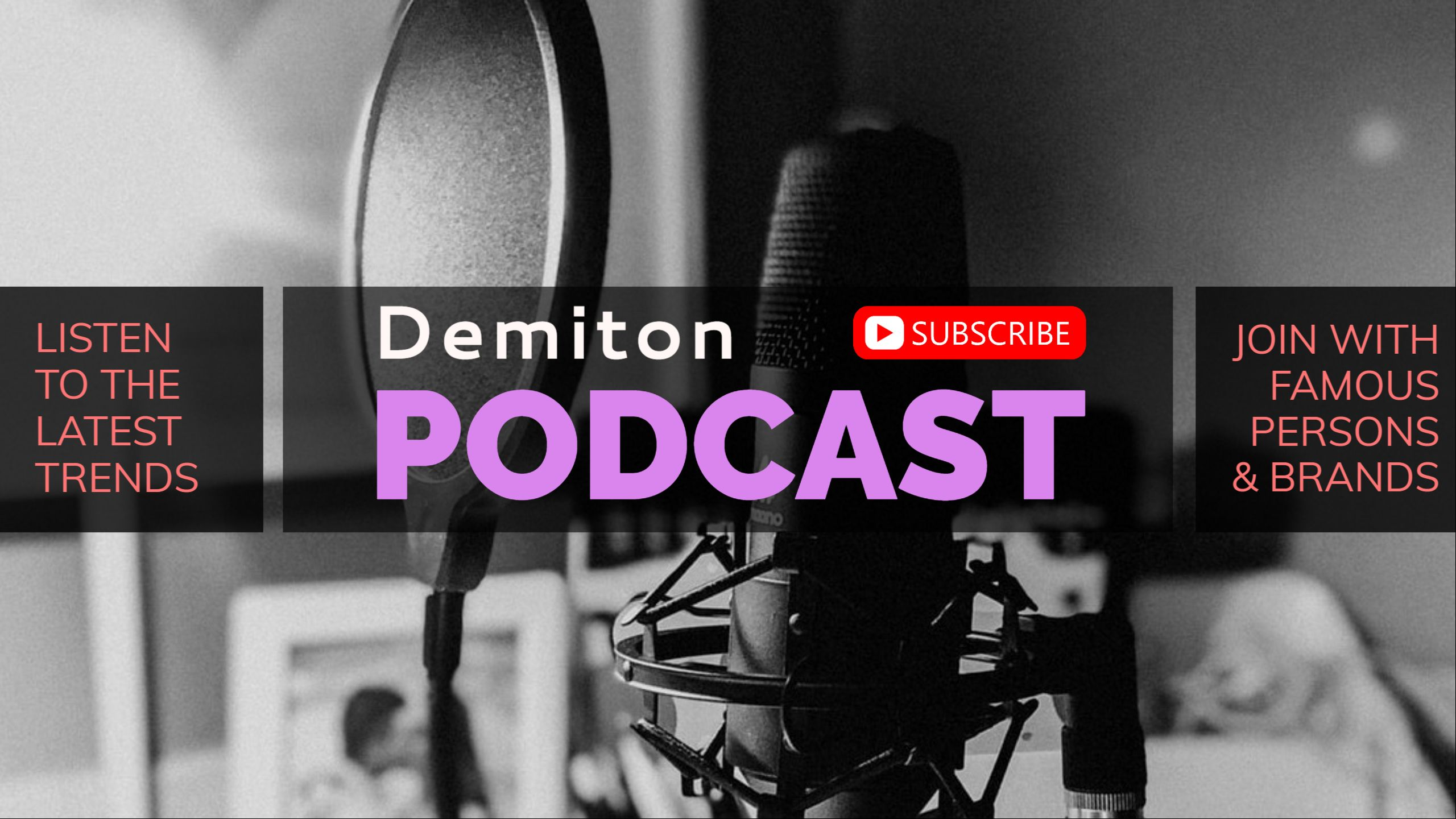 Podcast and Radio Youtube Cover Maker