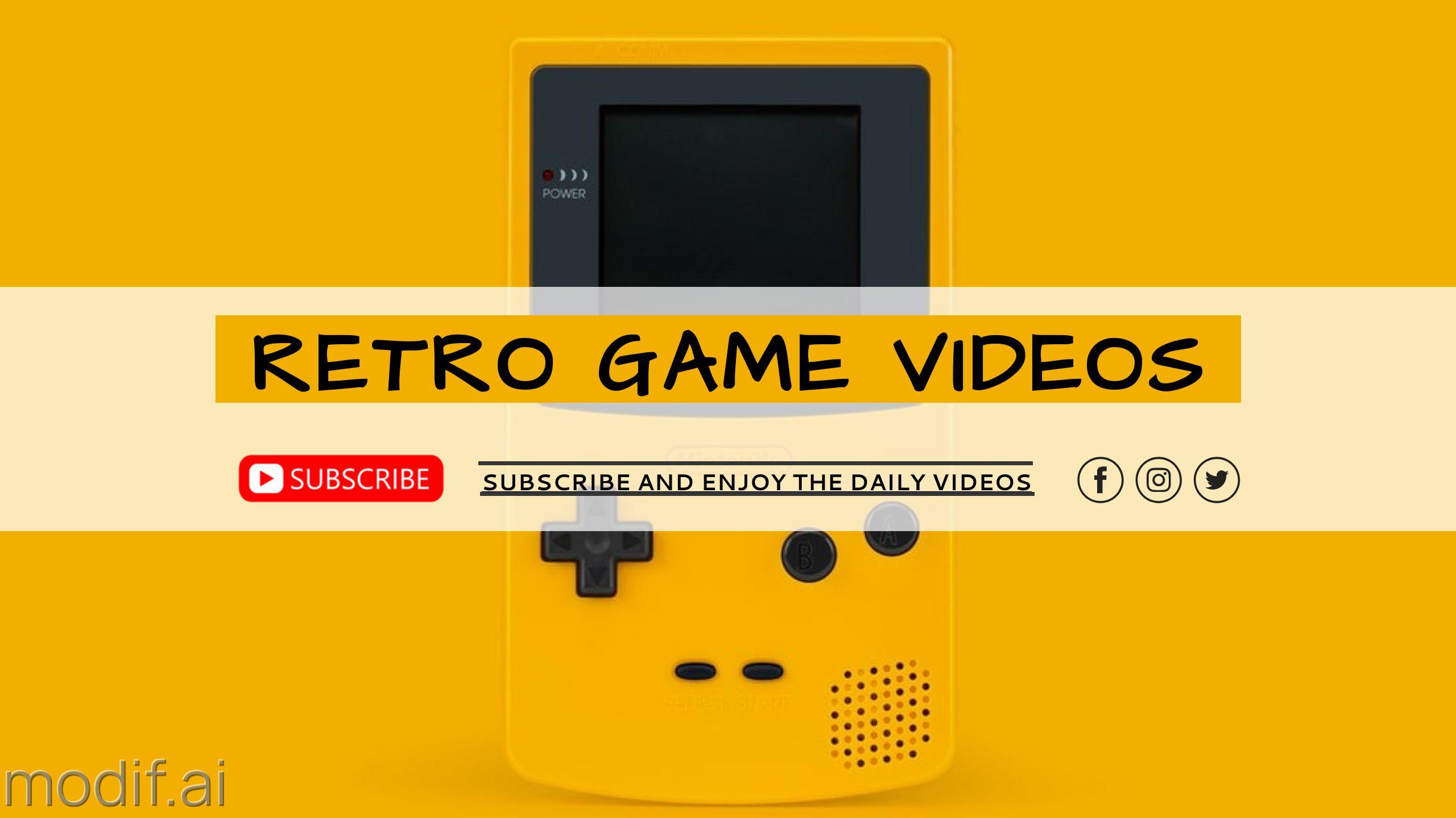 Retro Game Youtube Channel Art