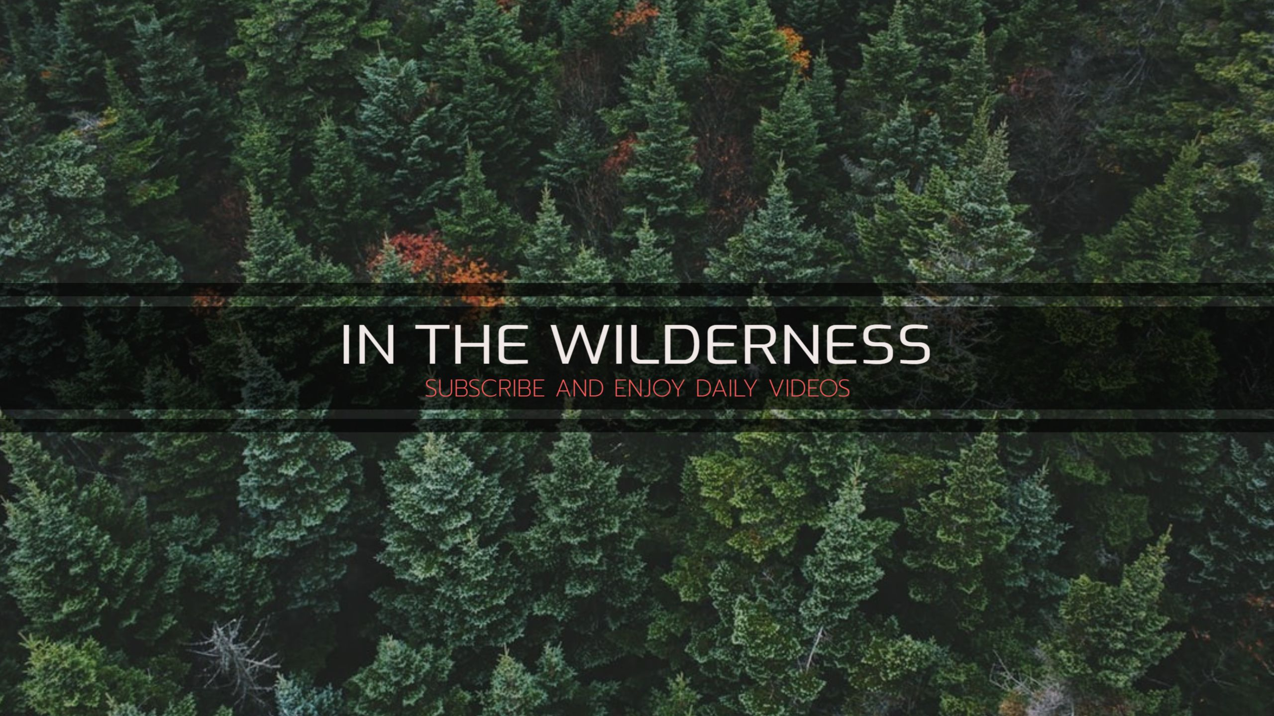 Wilderness and Adventure Youtube Banner
