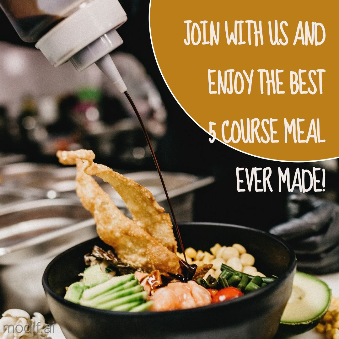 5 Course Meal Instagram Post Template