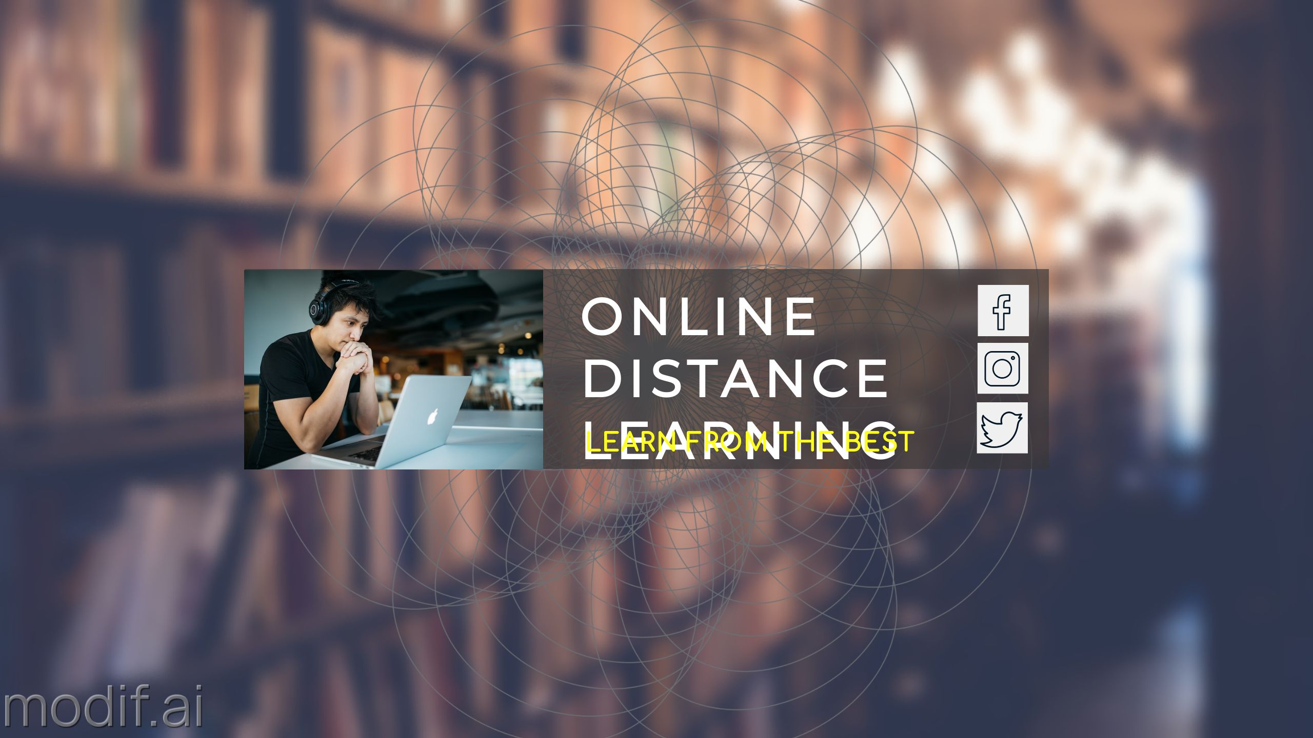 Distance Learning Youtube Cover Template