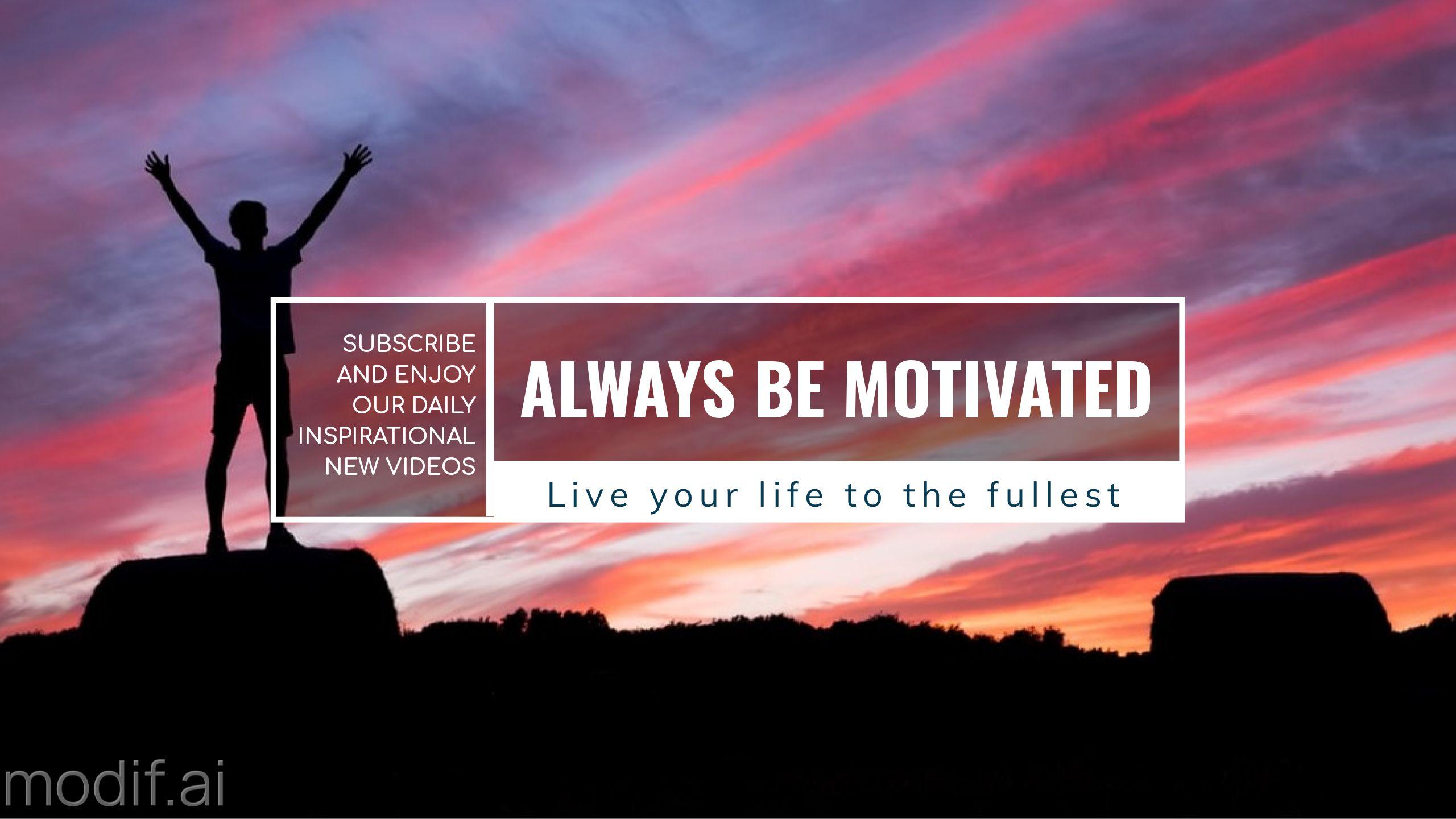 Motivational Youtube Channel Banner
