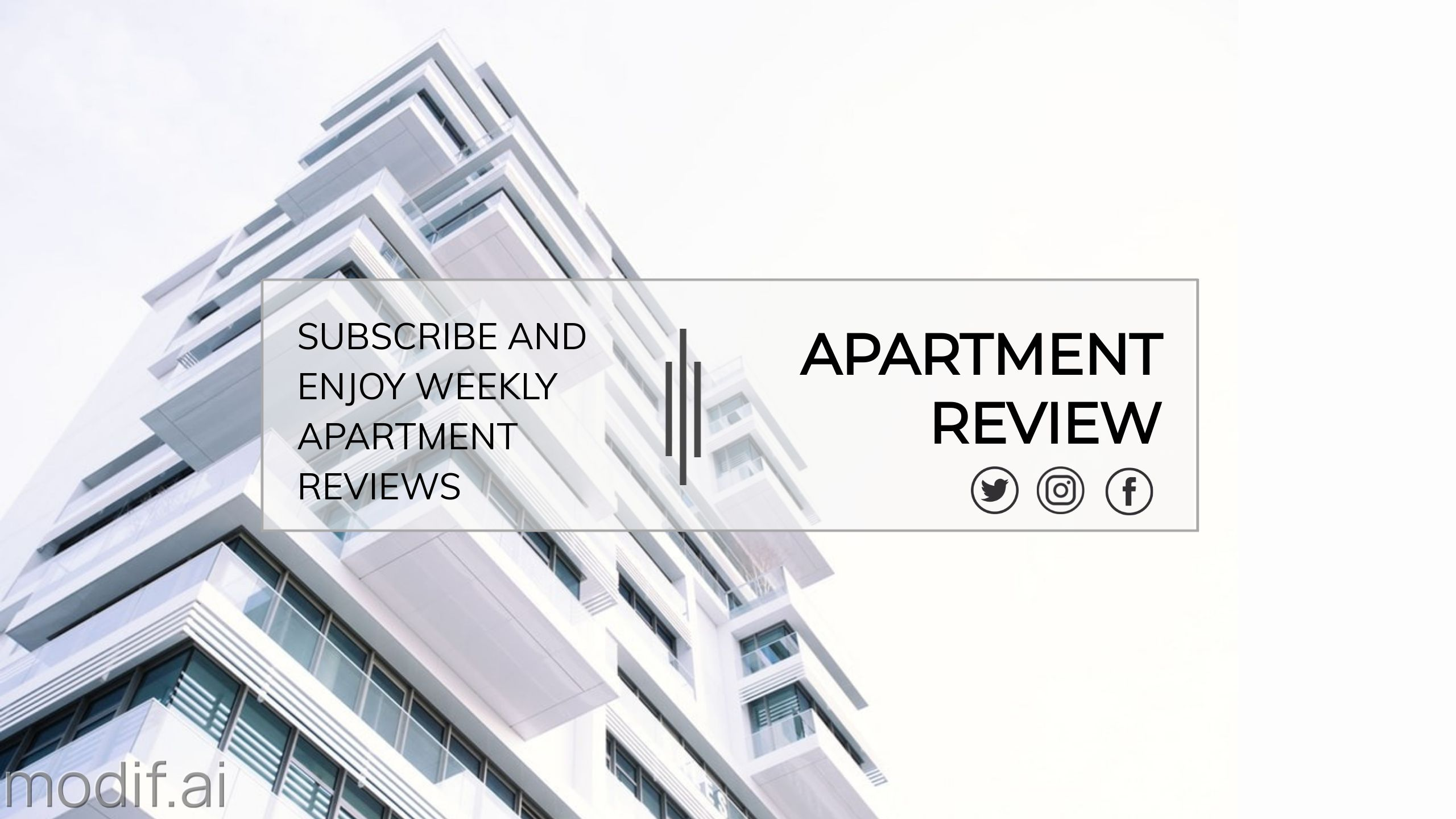 Apartment Review Youtube Channel Banner