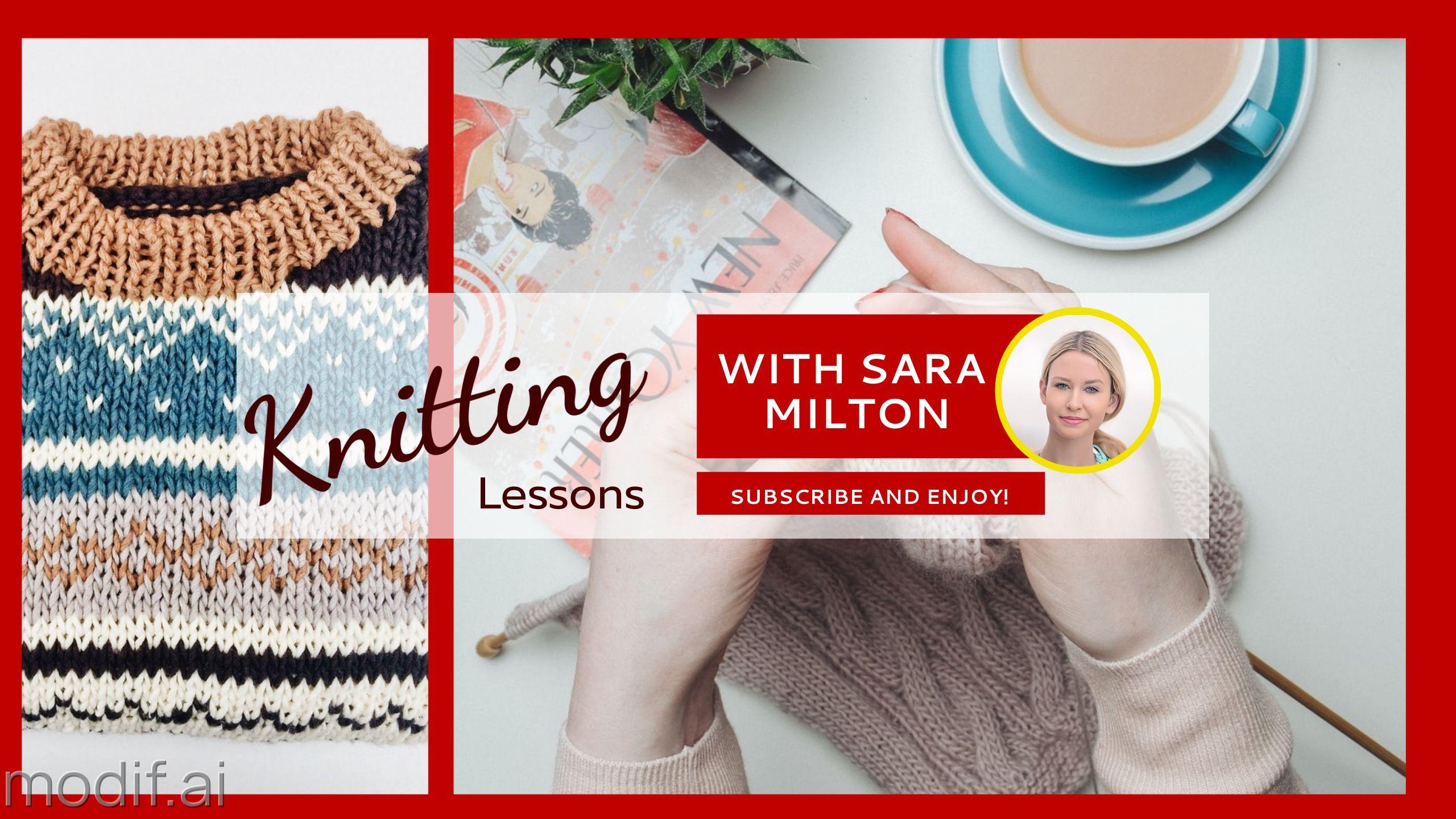 Knitting Lessons Youtube Banner