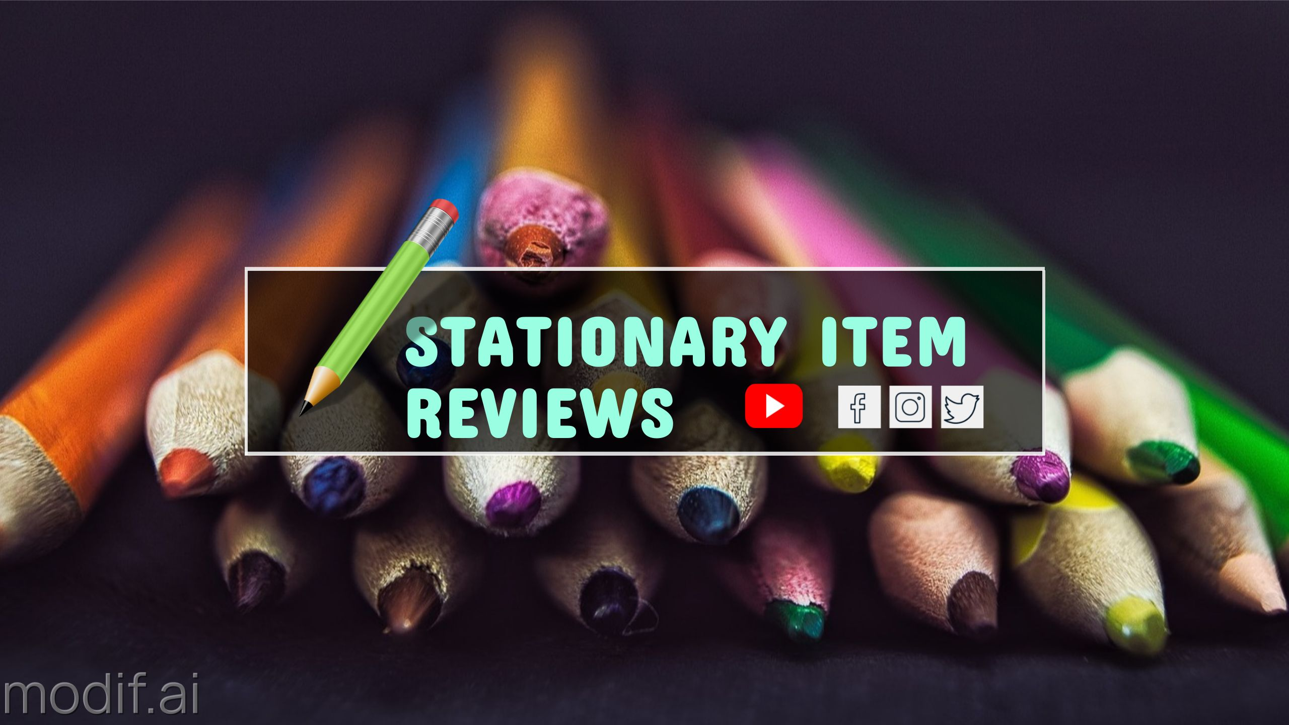Stationary Item Review YouTube Channel Art
