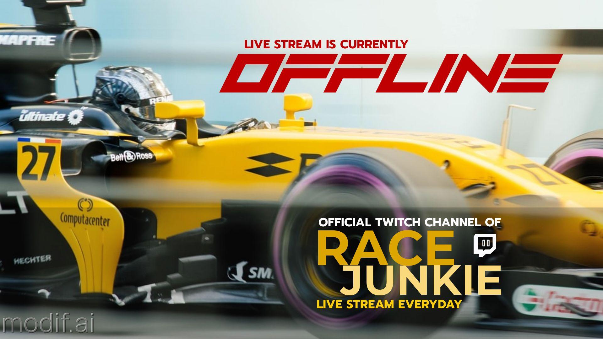 Race Car Themed Twitch Offline Banner Maker