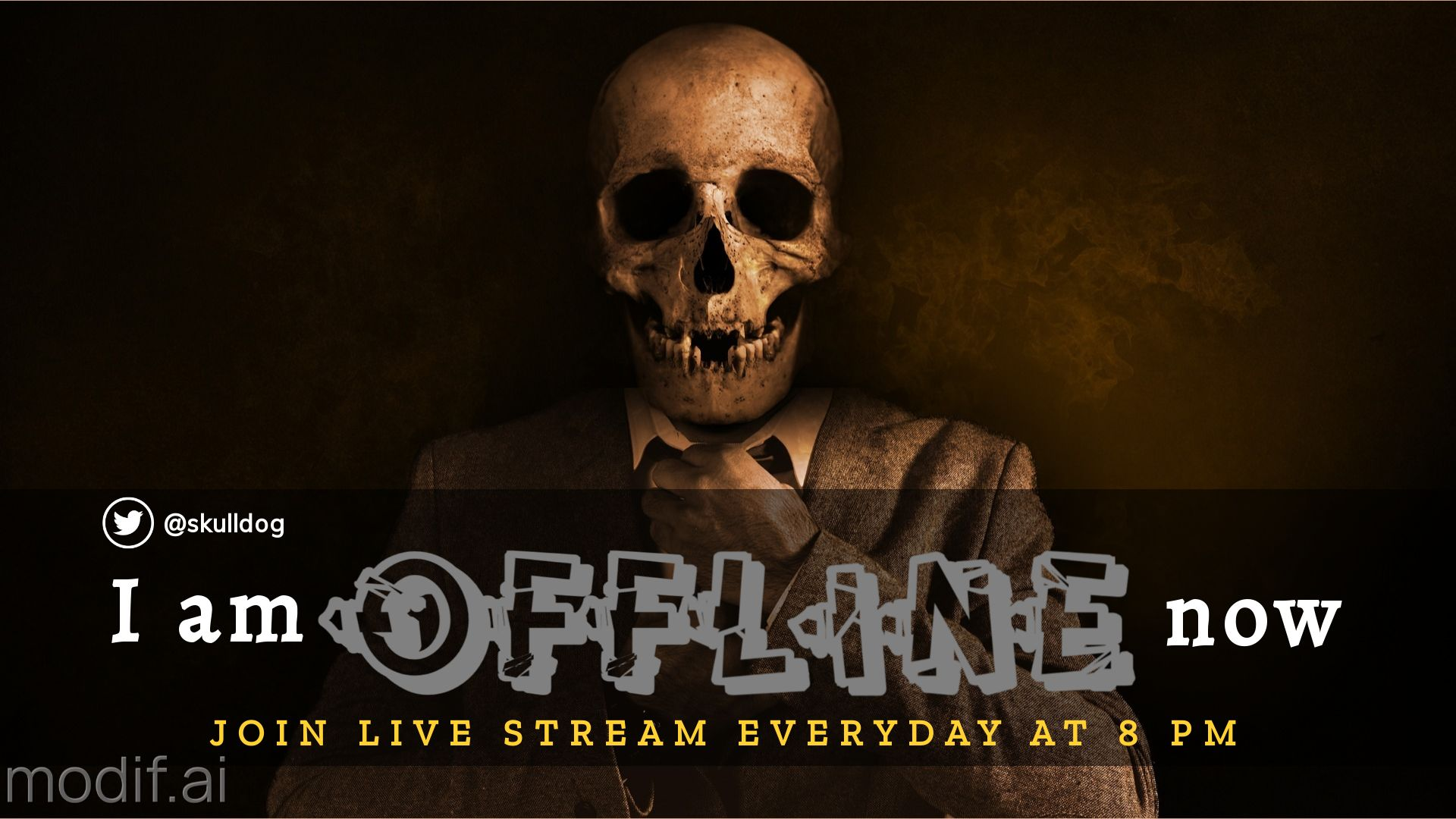 Skull Themed Twitch Offline Banner