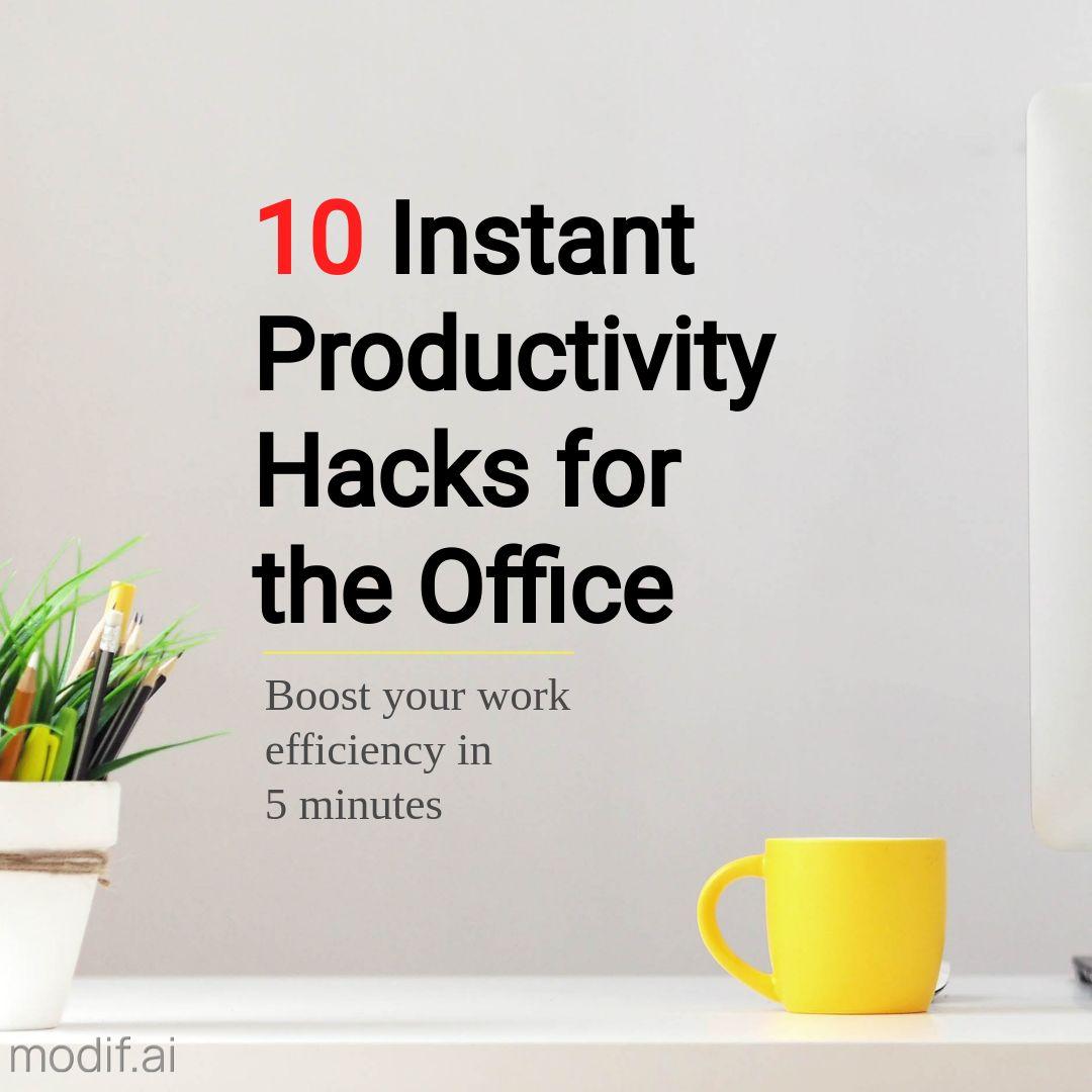 Productivity Instagram Post Template