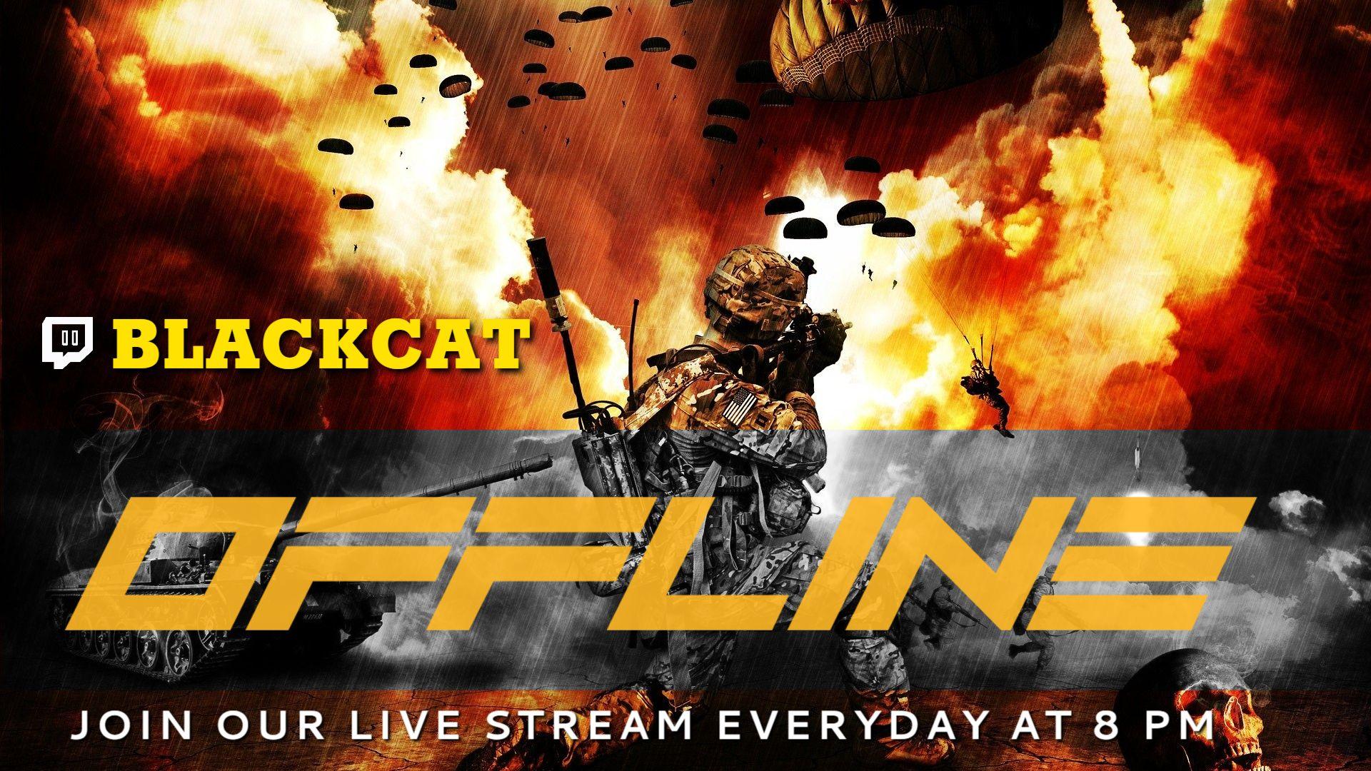 Explosion Twitch Offline Banner Maker