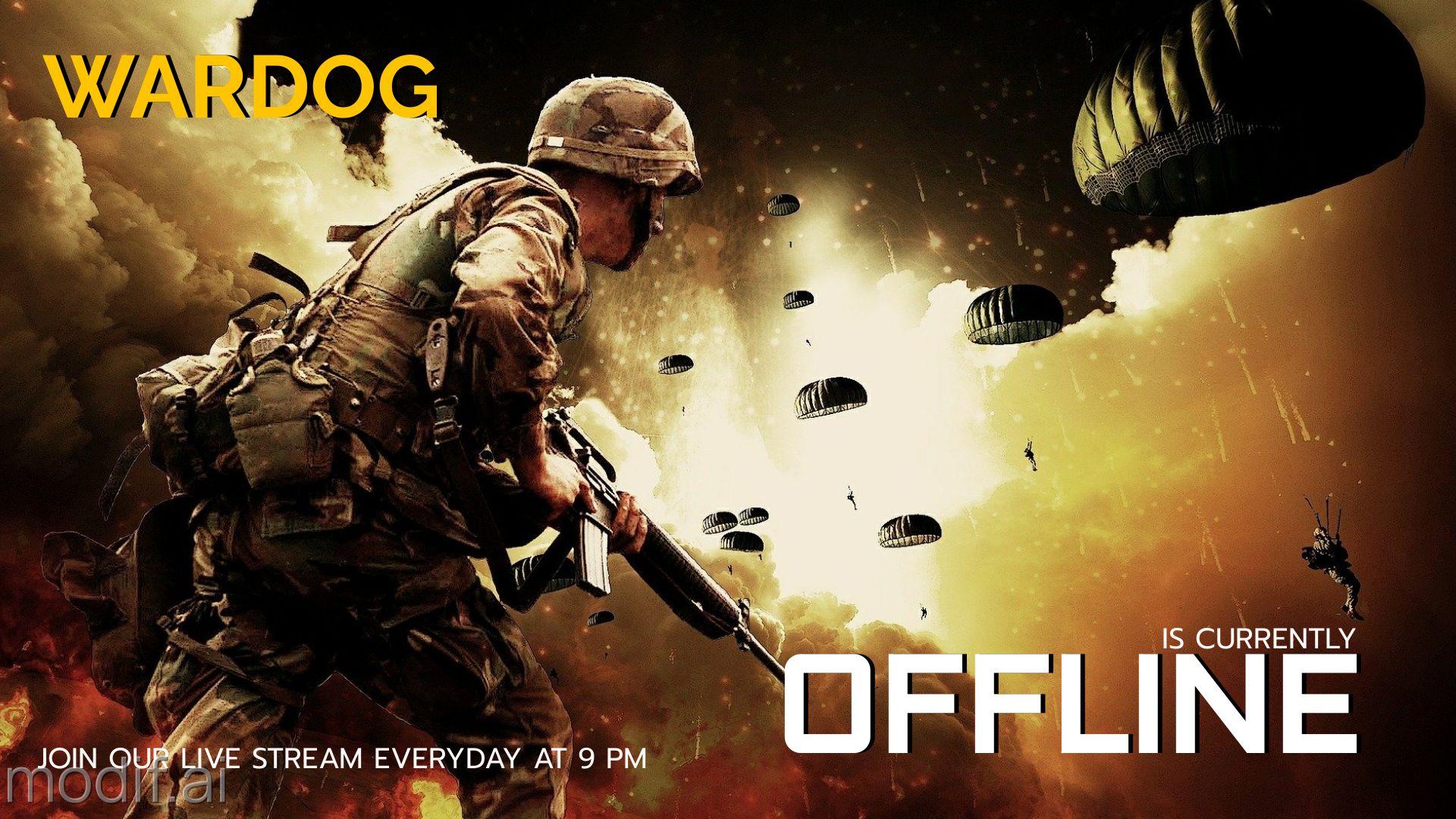 War Zone Twitch Offline Banner Template