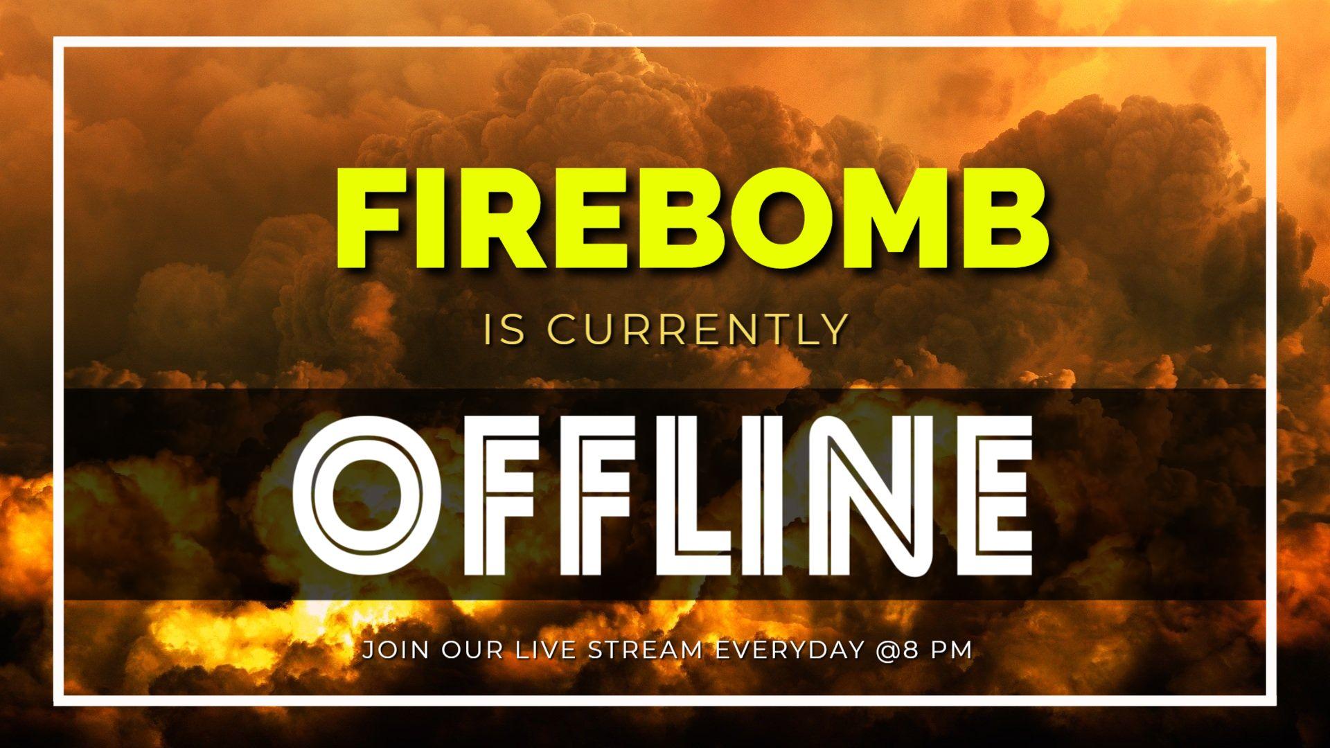 Fiery Explosion Twitch Offline Background