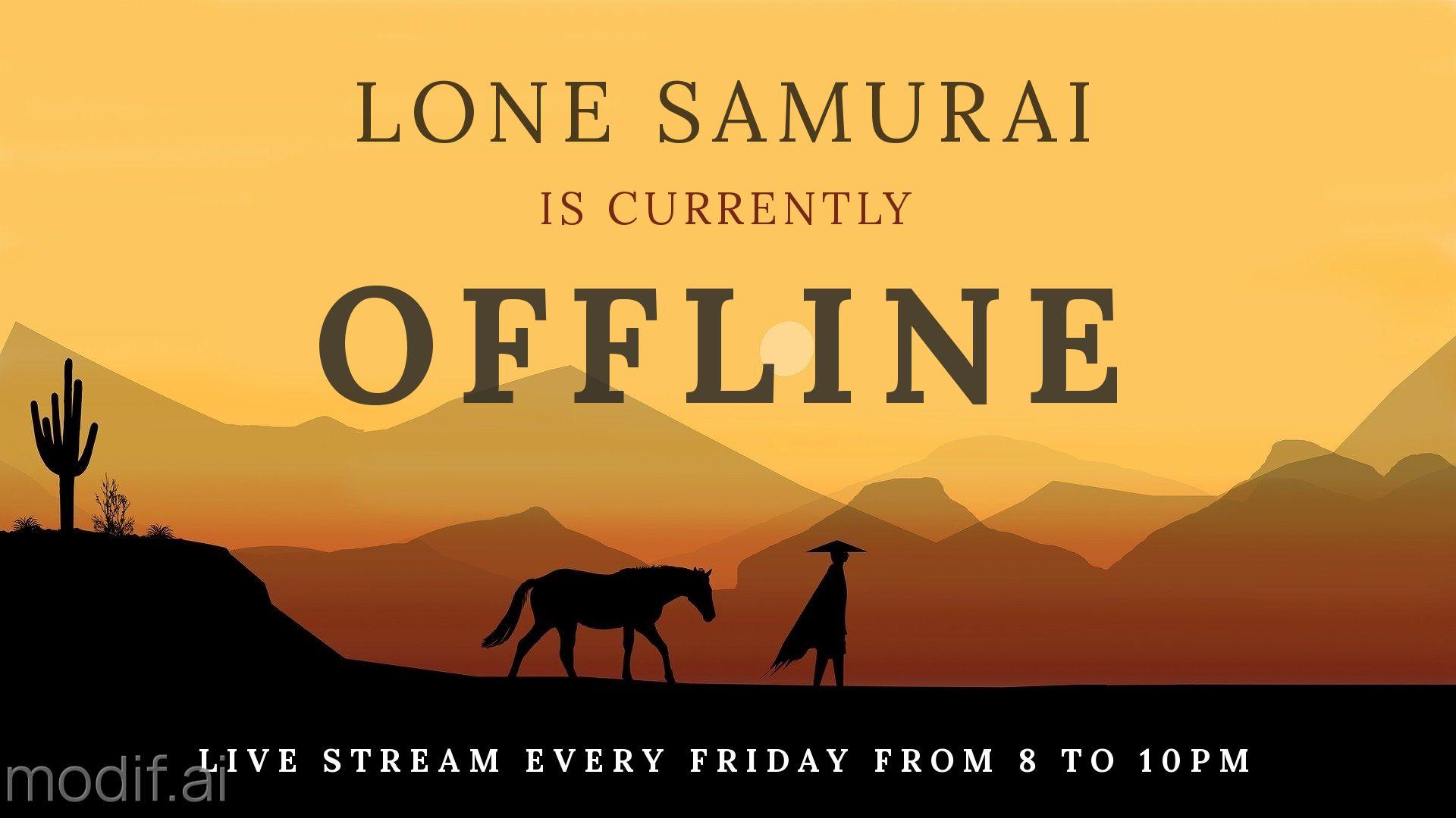 Samurai Twitch Offline Banner Template
