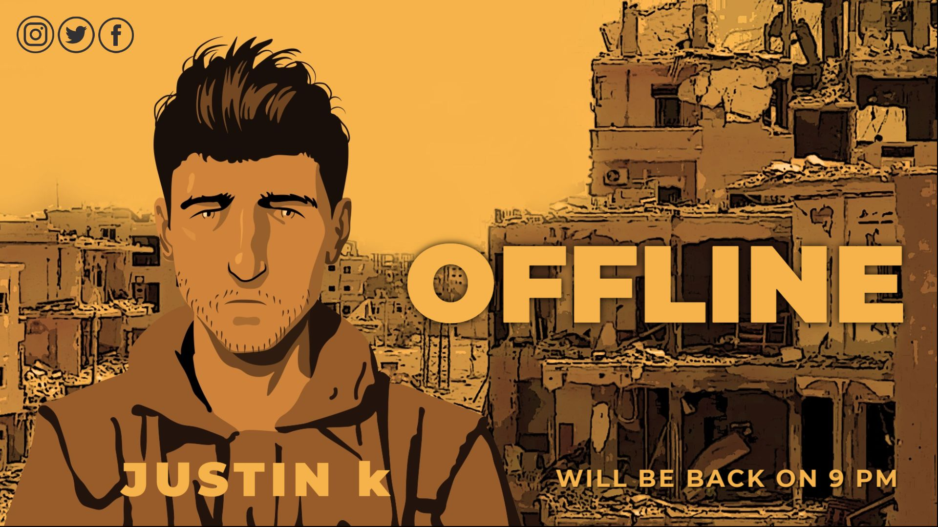 Anime Themed Twitch Offline Banner Maker