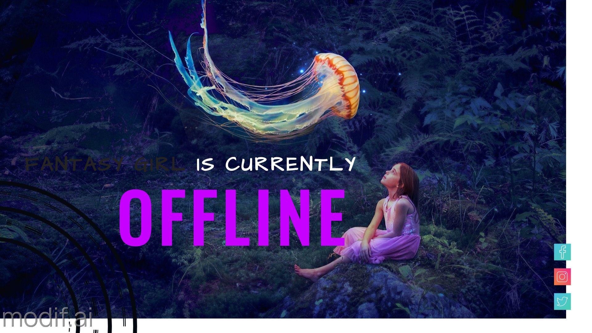 Fantasy Twitch Offline Banner Design