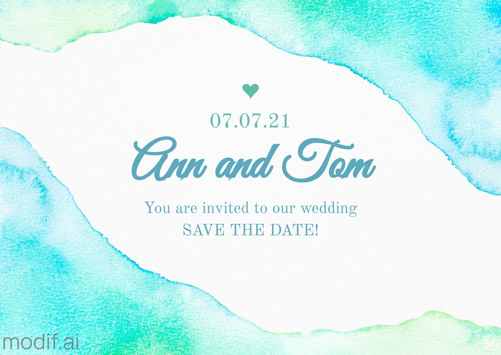 Wedding Invitation Greeting Card Template
