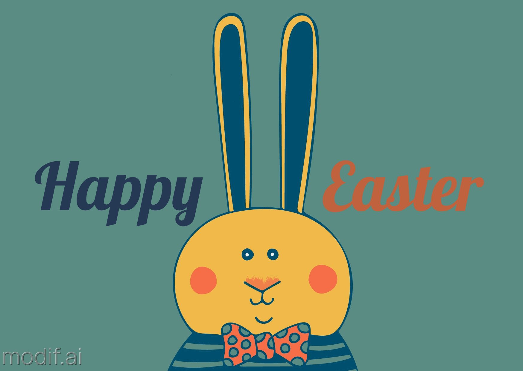 Funky Easter Greeting Card Template