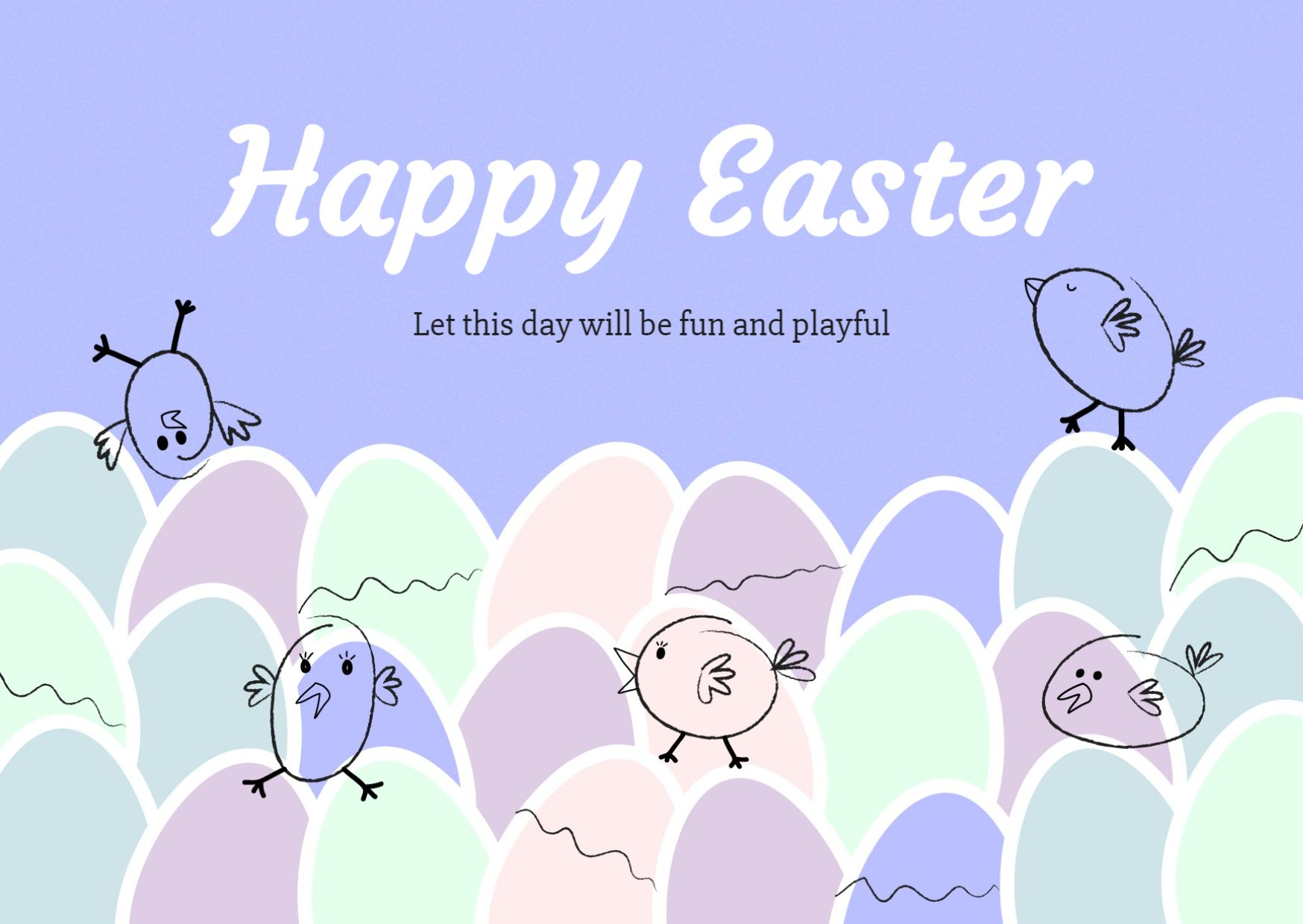 Colorful Easter Greeting Card Template